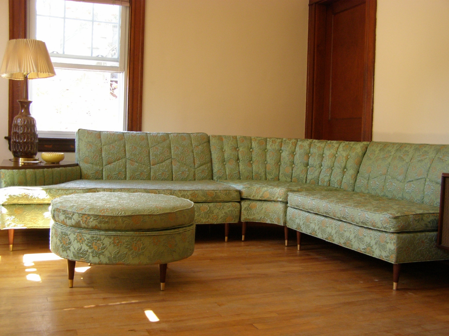 New Years Sale Vintage Sectional Sofa With Built In Side Table For Retro Sofas And Chairs (Image 12 of 15)