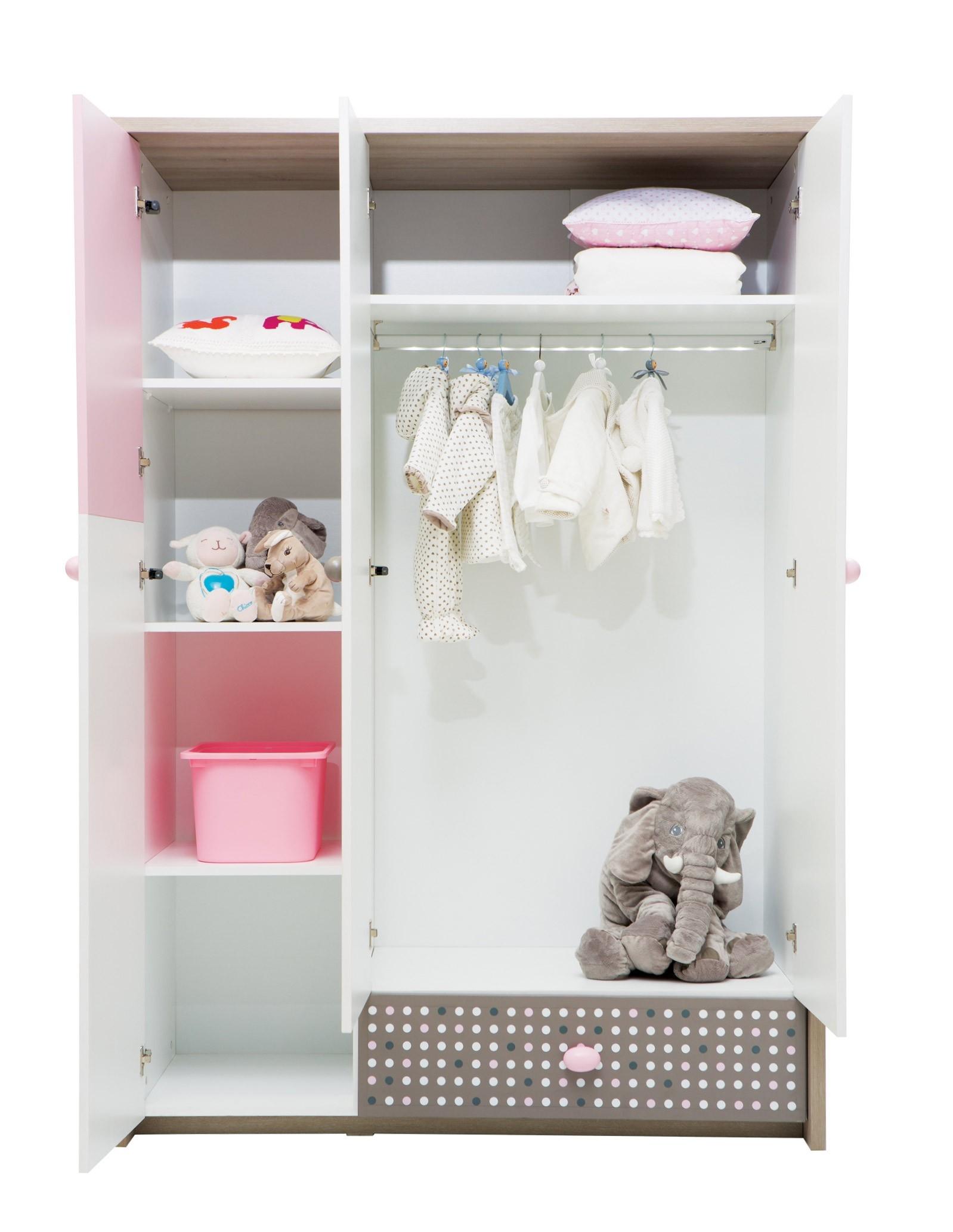 Newjoy Pink Bunny 3 Door Childrens Wardrobe For Childrens Pink Wardrobes (View 14 of 25)