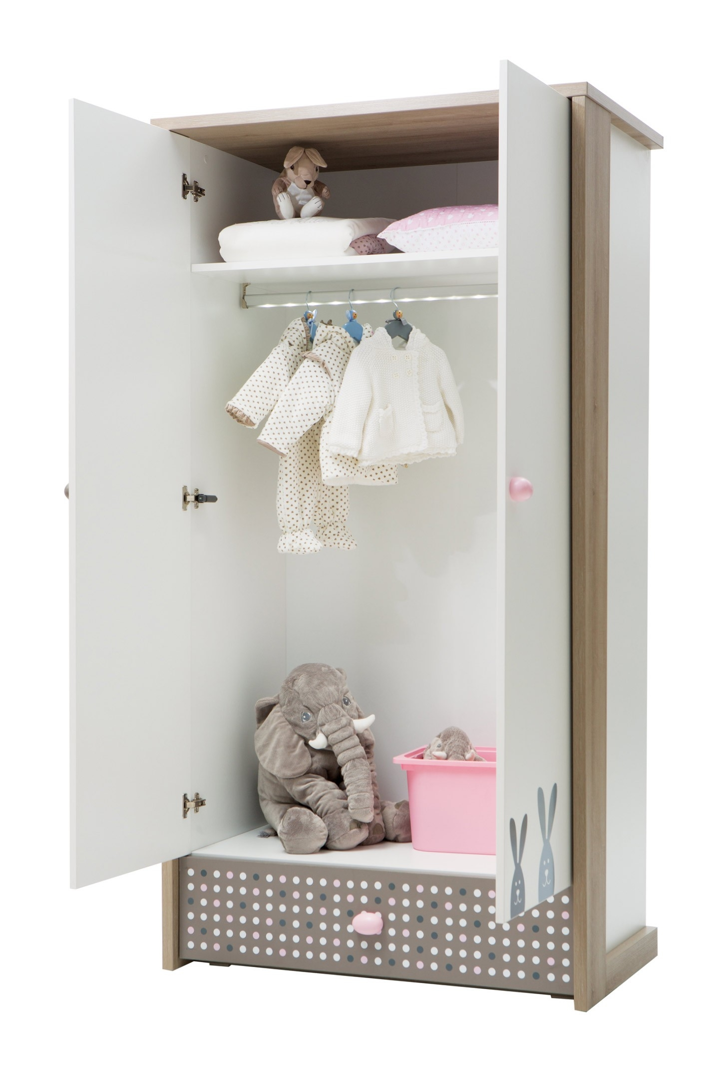 Newjoy Pink Bunny Bedroom Furniture Collection For Childrens Pink Wardrobes (Image 16 of 25)
