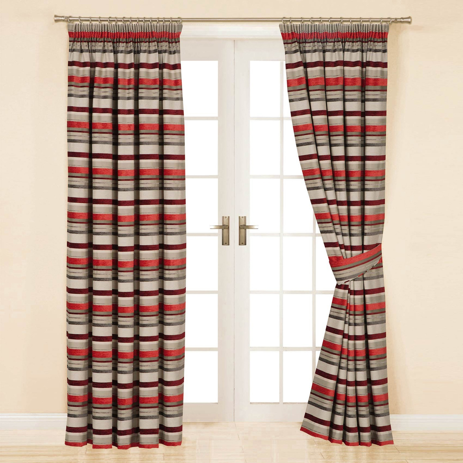 Next Red Striped Curtains Curtain Menzilperde With Stripe Curtains (Image 19 of 25)