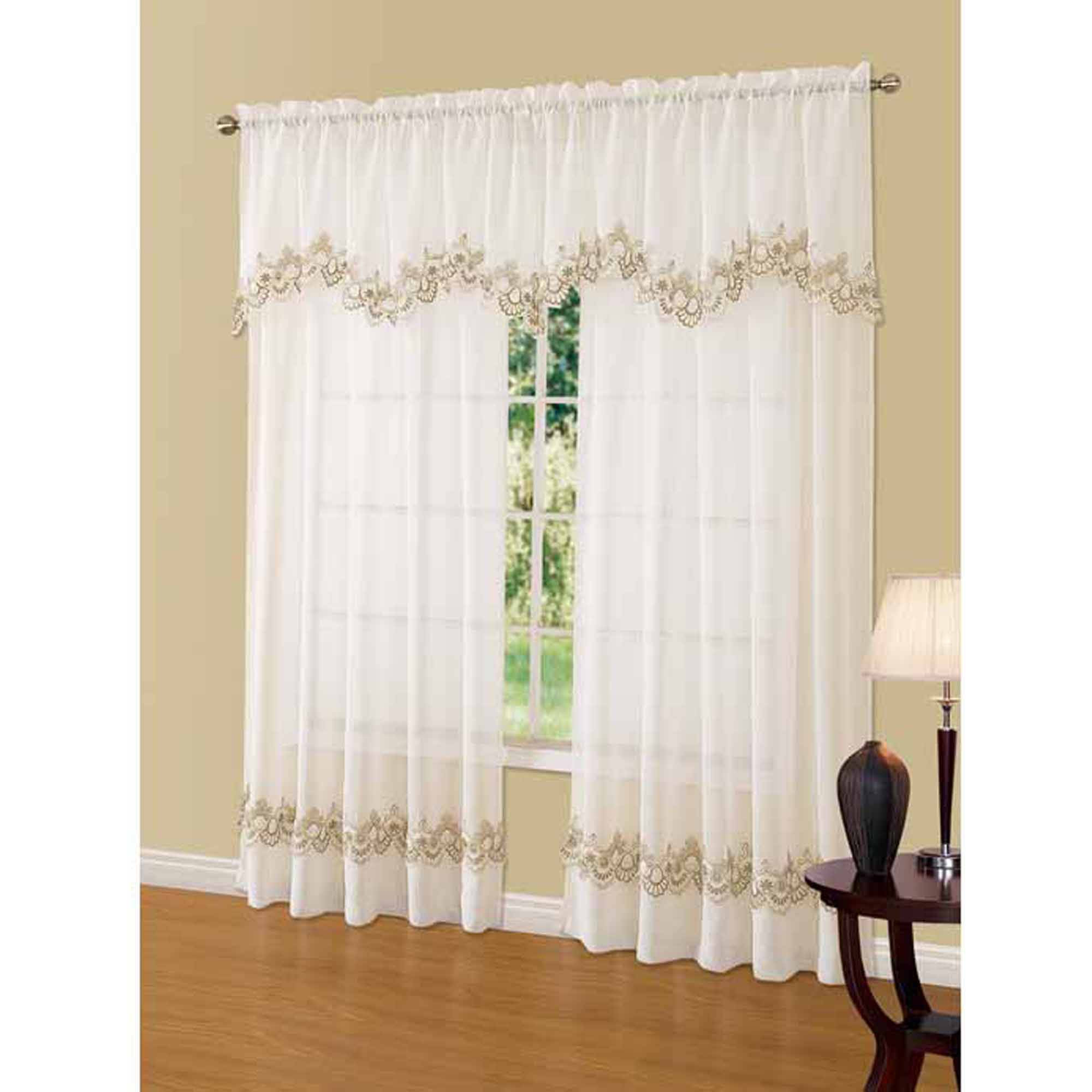 No 918 Alison Sheer Lace Curtain Panel Walmart Within Lace Curtain Sets (View 23 of 25)