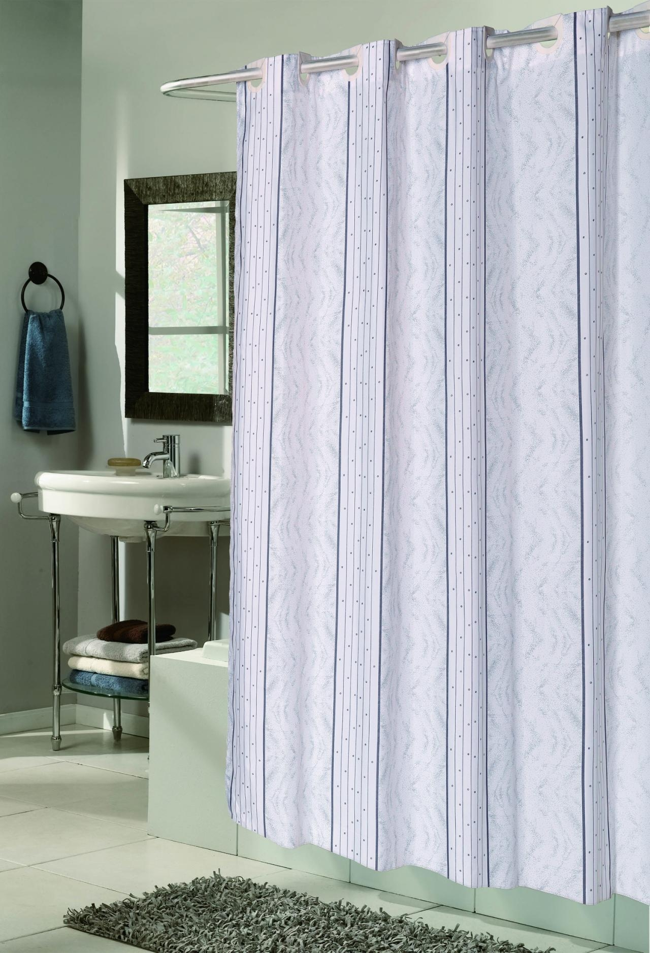 No Hook Shower Curtain Curtains Decoration With Hookless Fabric Shower Curtain Liner (Image 23 of 25)