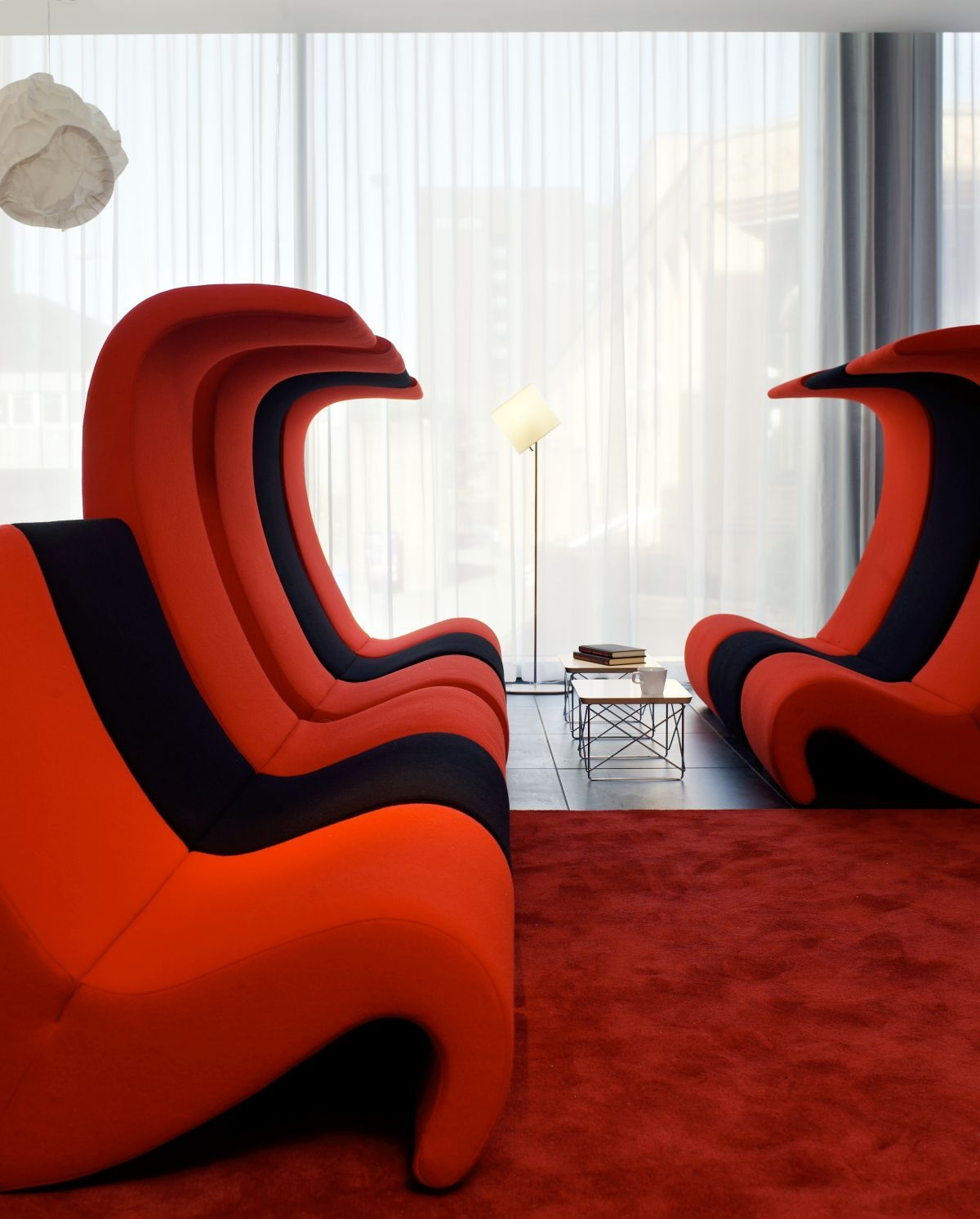 Nonsensical Contemporary Sofas Atlanta 4 Red Sofa Pouff Furniture Regarding Contemporary Sofa Chairs (Image 15 of 15)