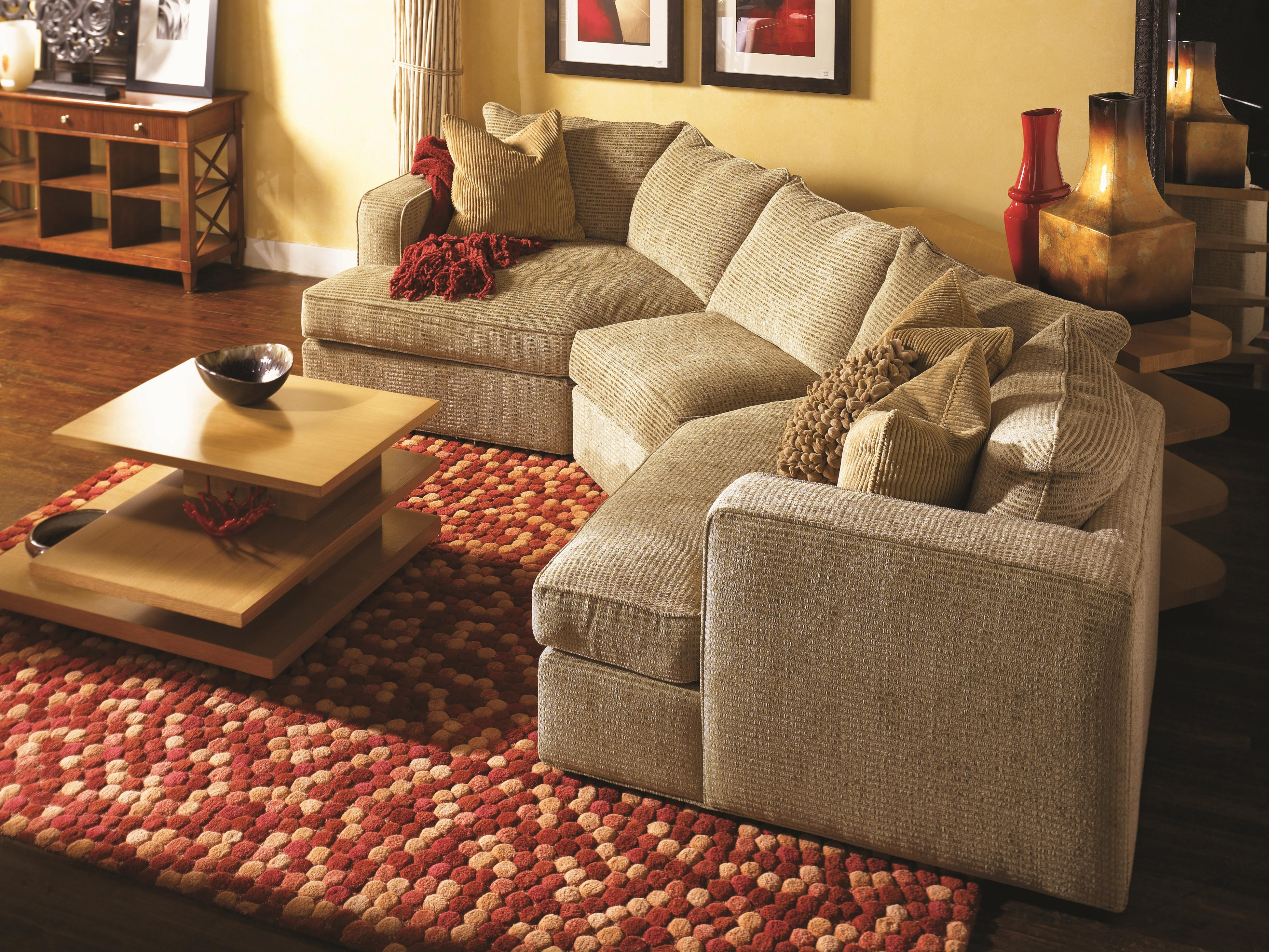 Norwalk Milford Sectional Sofa With 2 End Angle Chaises And Track Inside Norwalk Sofa And Chairs (Image 11 of 15)