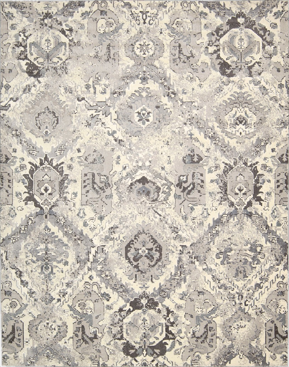 Nourison Twilight Twi03 Ivgry Ivorygrey Area Rug Rugs A Bound Regarding Nourison Carpets (Image 13 of 15)