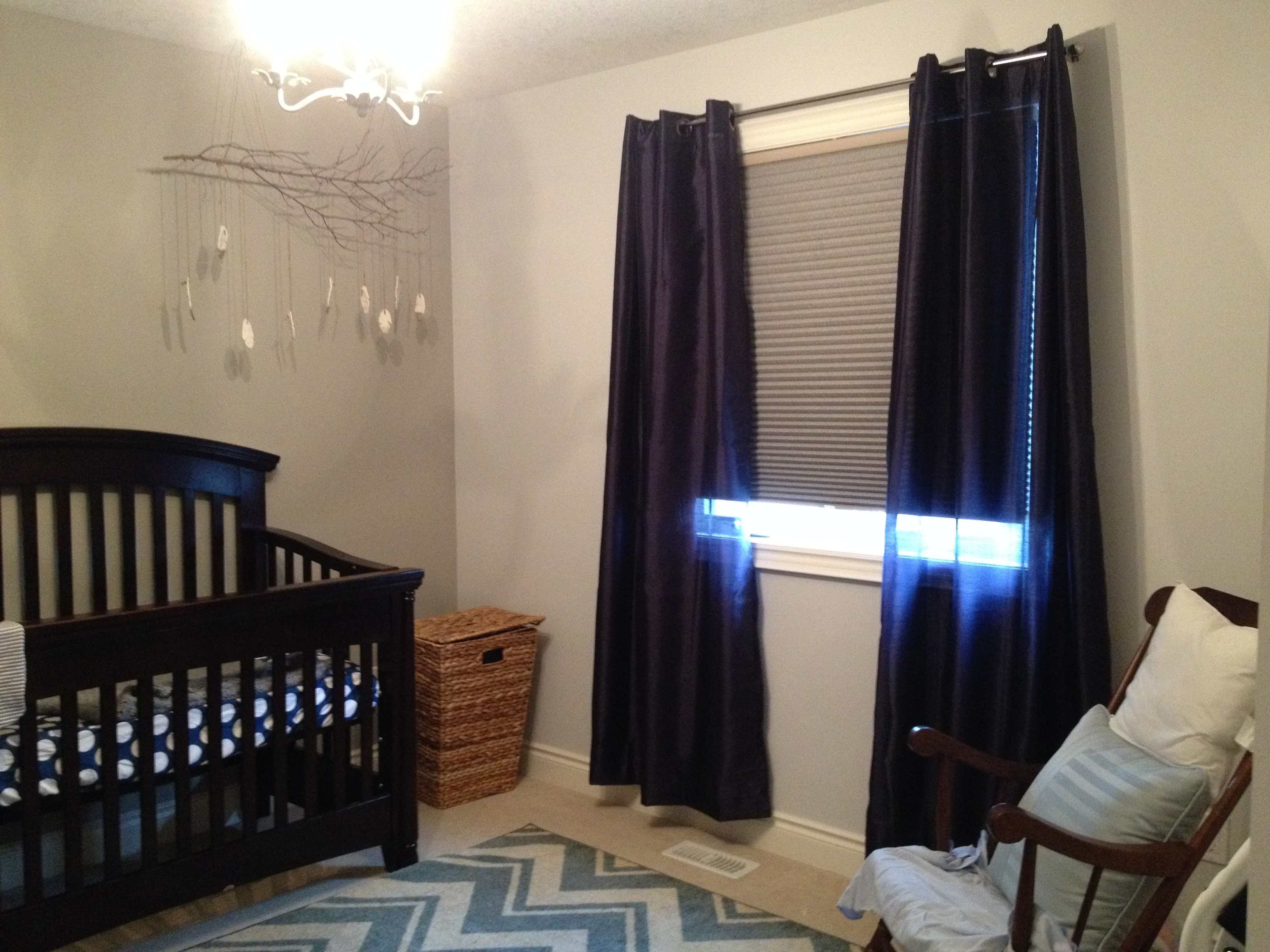 Nursery Enchanting Nursery Decorating Ideas With Blackout Throughout Blackout Curtains For Baby Room (Image 23 of 25)