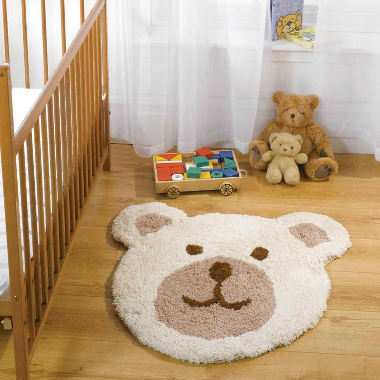 Nursery Teddy Bear Rugs In Natural Fruugo With Teddy Bear Rugs (Image 11 of 15)