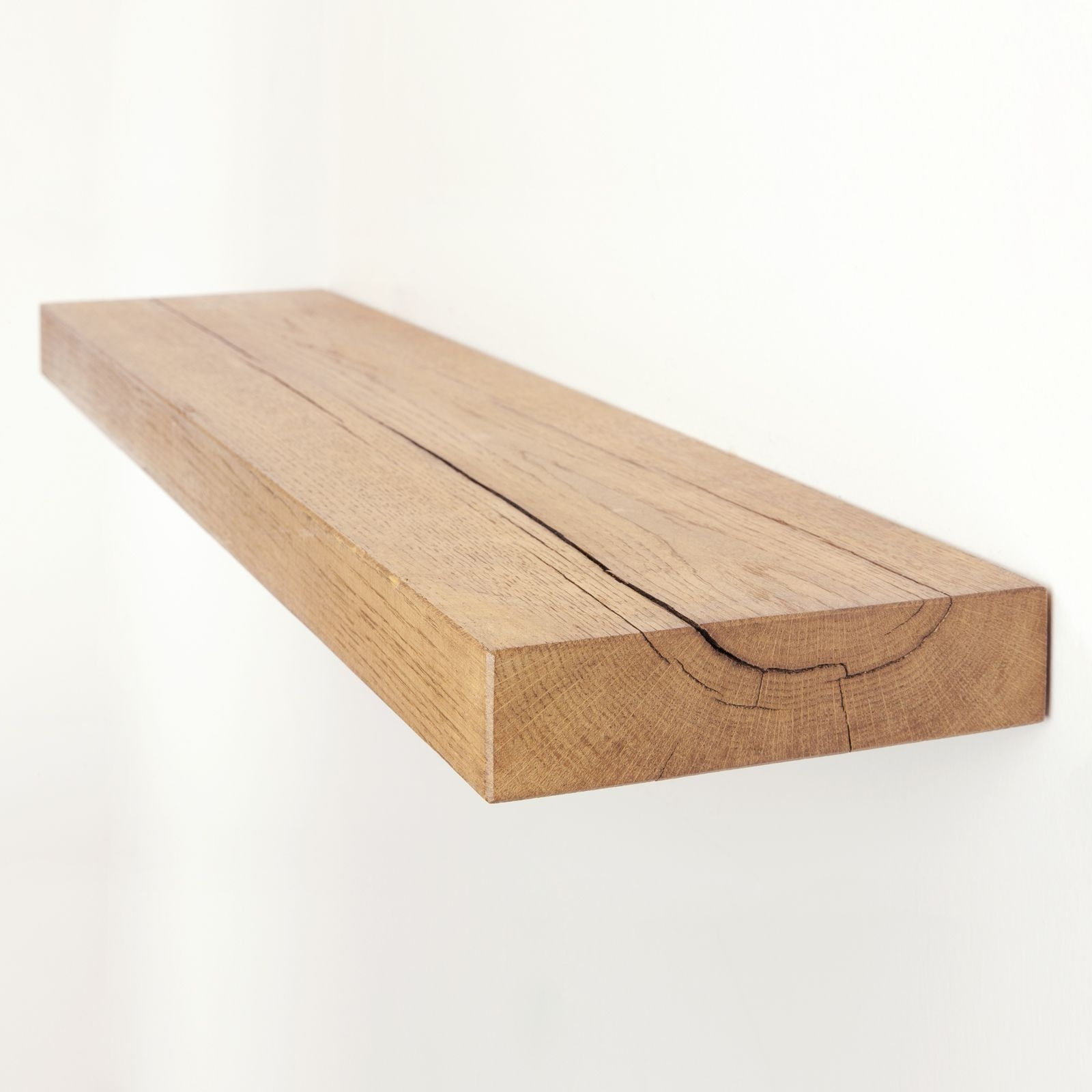 Oak Floating Shelf 8×2 Solid Oak Funky Chunky Furniture Throughout Floating Shelf 100cm (Image 9 of 15)