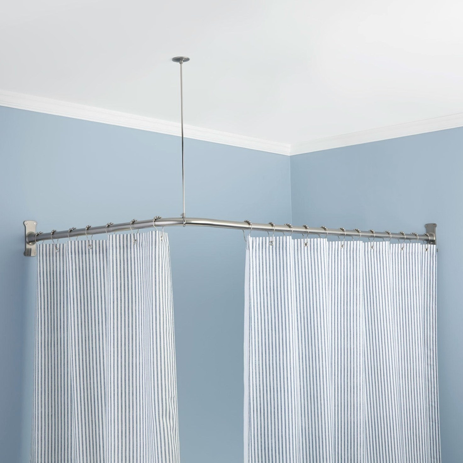 Odd Shaped Shower Curtain Rods For Odd Shower Curtains (Image 21 of 25)
