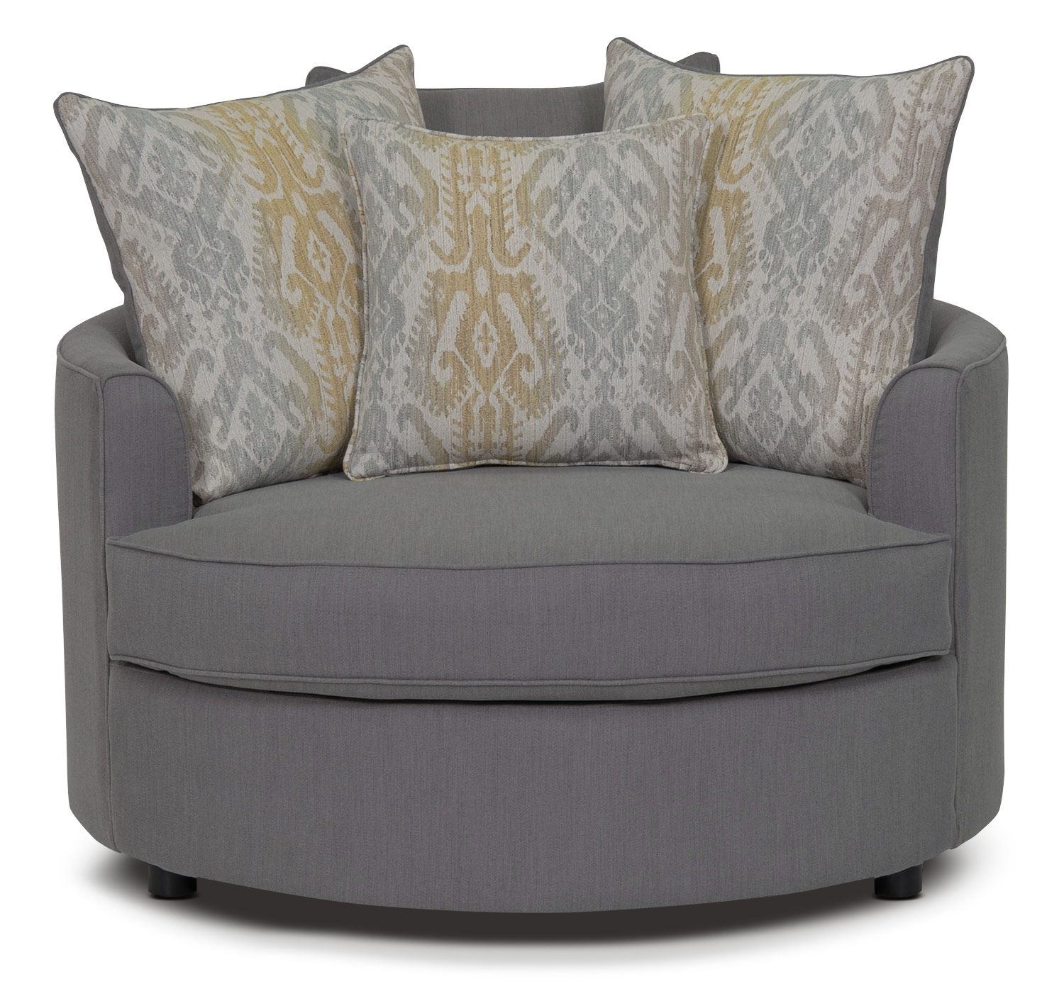 Offer A Dignified And Tasteful Living Room To Your Guests With Regarding Round Sofa Chair Living Room Furniture (Image 5 of 15)