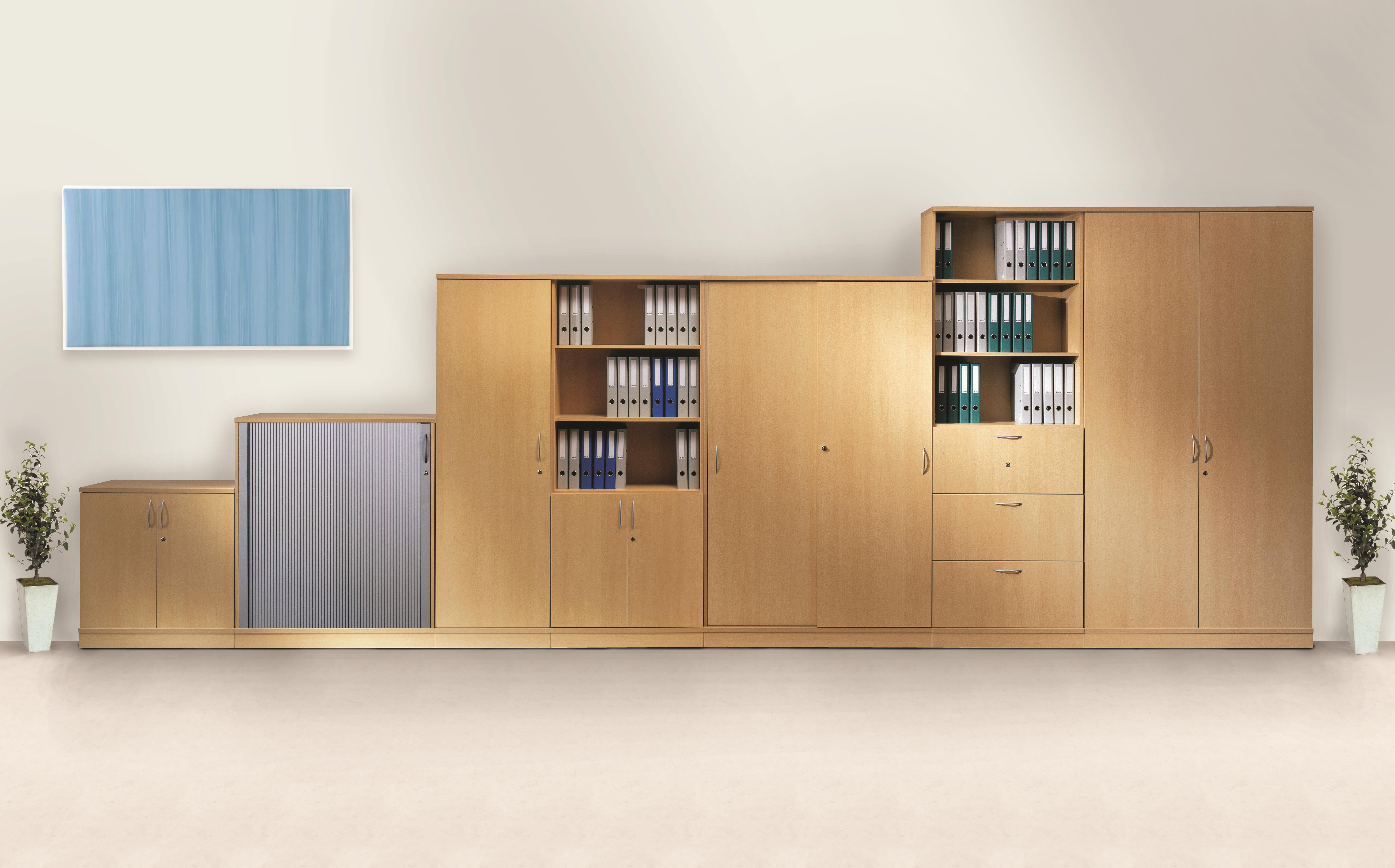 Office Storage System Wall Cupboards Huge Range Tall To Low Free Space In Office Wall Cupboards (Image 8 of 15)