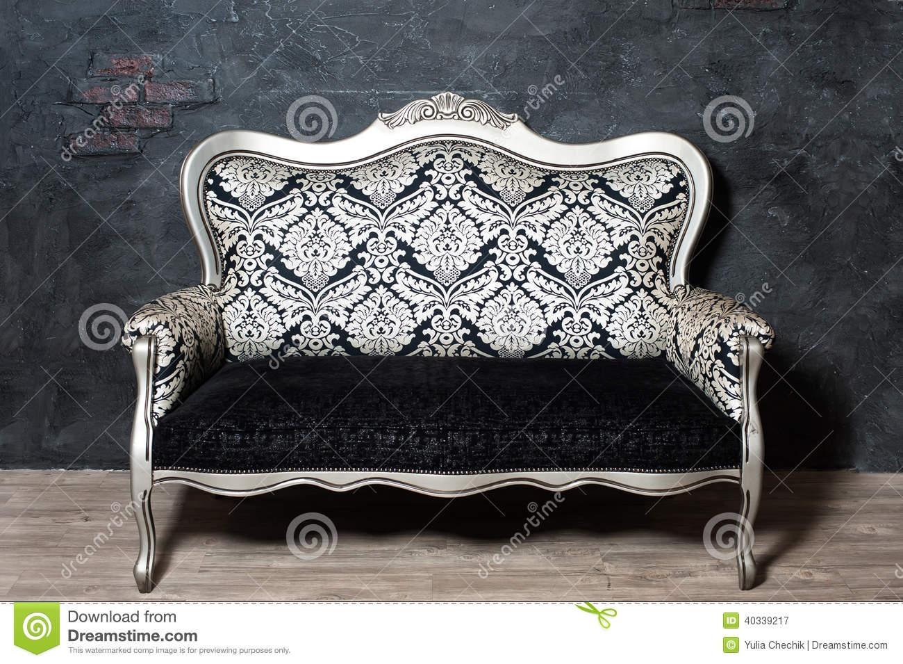 Old Fashioned Sofa Stock Photo Image 40339217 Pertaining To Old Fashioned Sofas (Image 5 of 15)