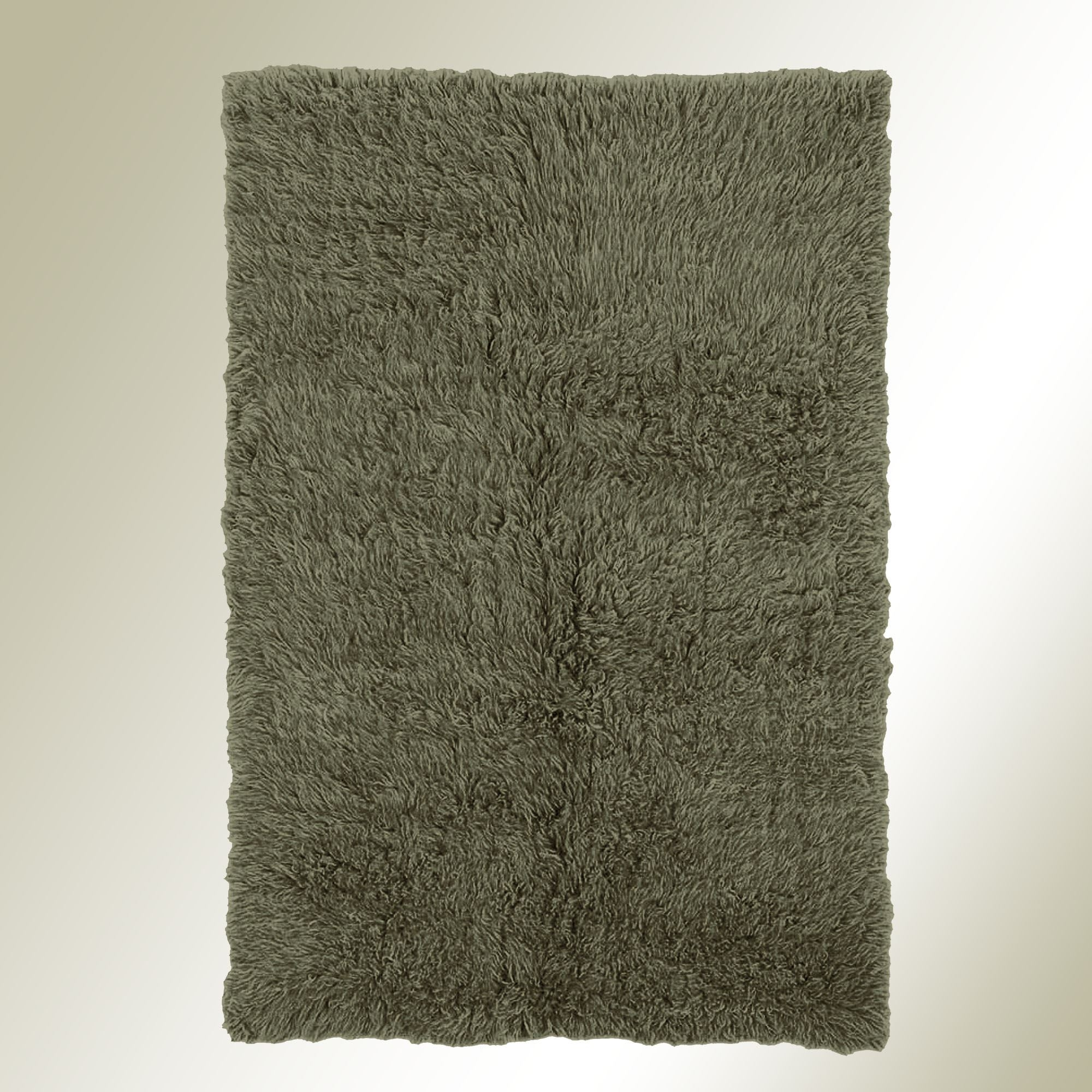 Olive Green Flokati Wool Shag Area Rugs For Olive Green Rugs (Image 10 of 15)