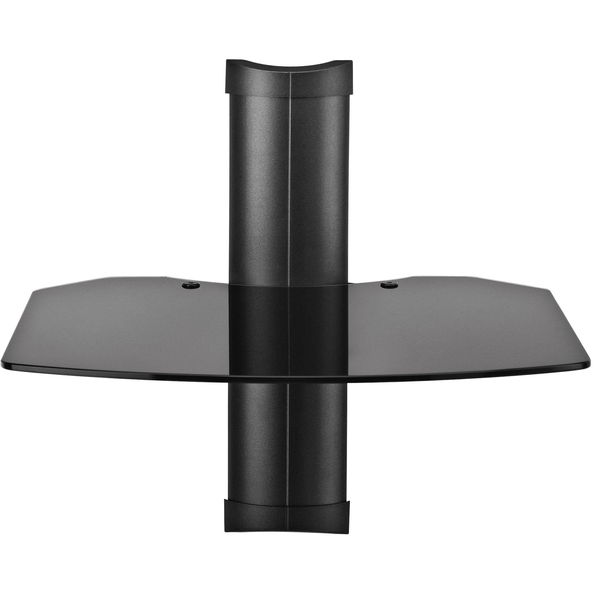 Omnimount Tria 1 Wall System Black Black Glass Tria 1 B Bh For Cable Glass Shelf System (Image 7 of 15)