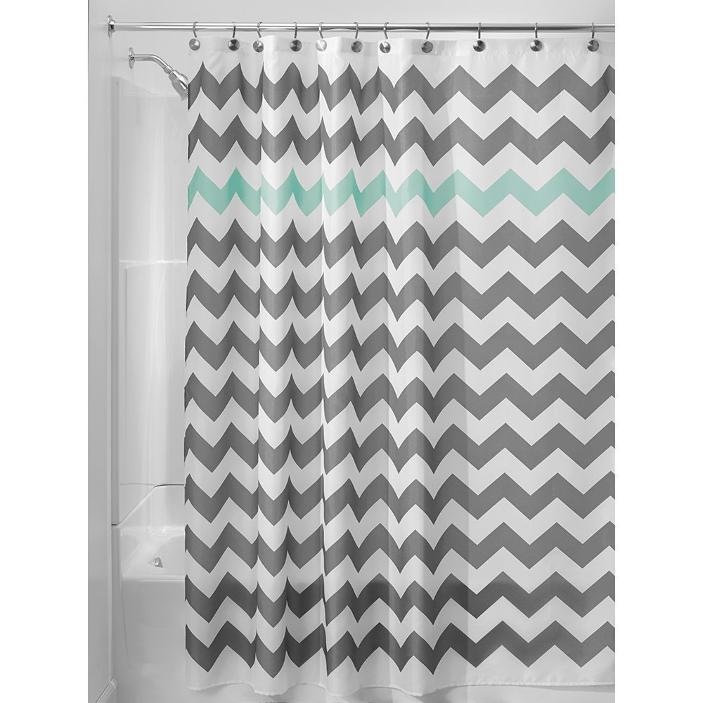 Online Get Cheap Blue Chevron Curtains Aliexpress Alibaba Group Within Gray Chevron Shower Curtains (View 4 of 25)