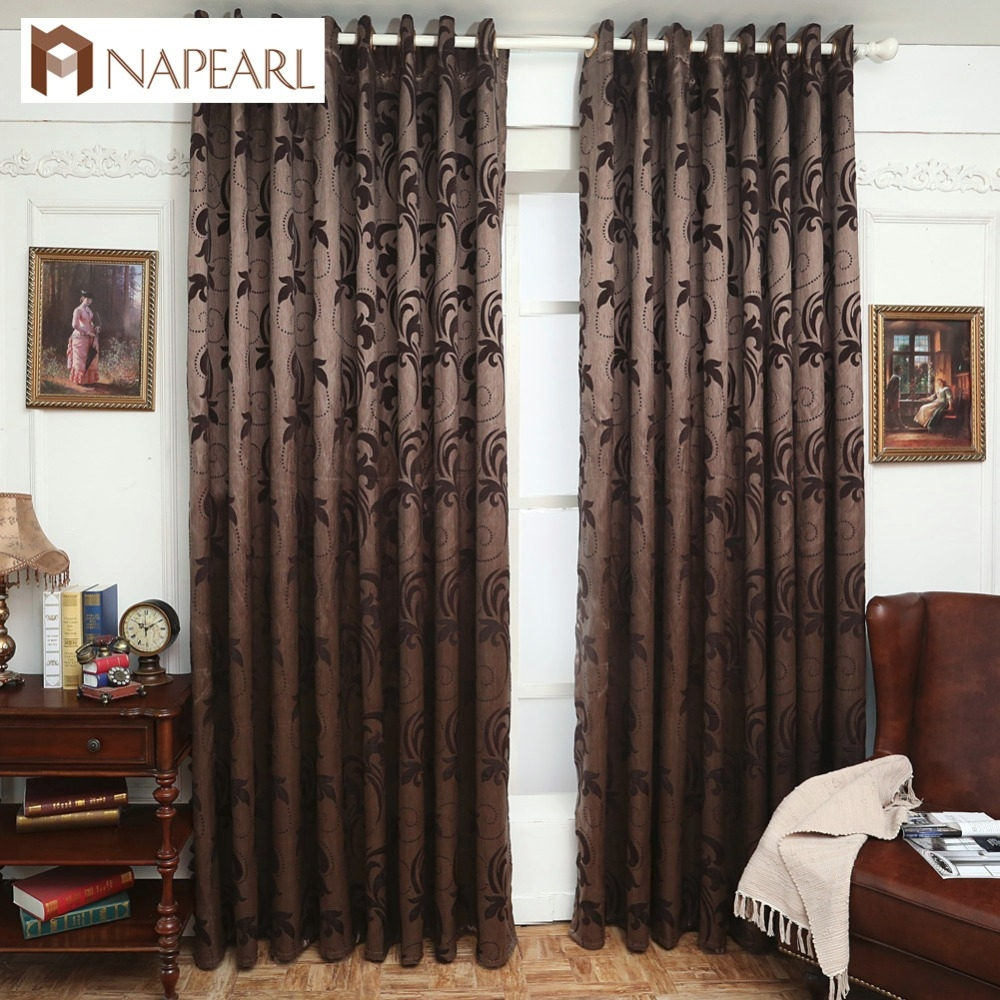 Online Get Cheap Brown Panel Curtains Aliexpress Alibaba Group Inside Short Brown Curtains (Image 14 of 25)