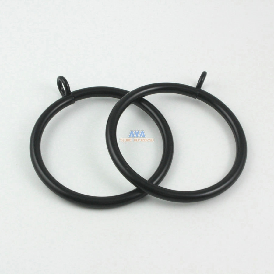 Online Get Cheap Curtain Rod Hardware Aliexpress Alibaba Group Regarding Black Curtain Rings (View 4 of 25)
