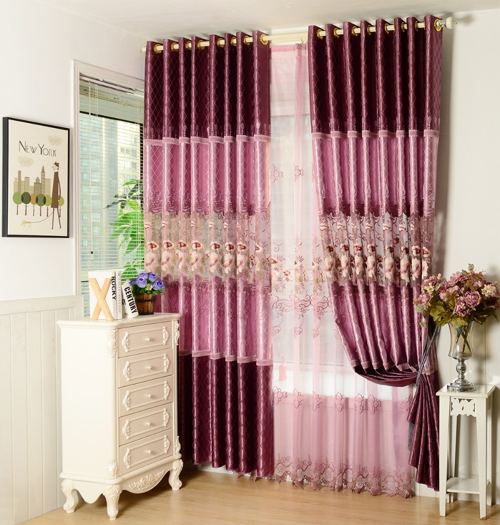 Online Get Cheap Custom Silk Curtains Aliexpress Alibaba Group With Regard To Cheap Custom Curtains (View 13 of 25)