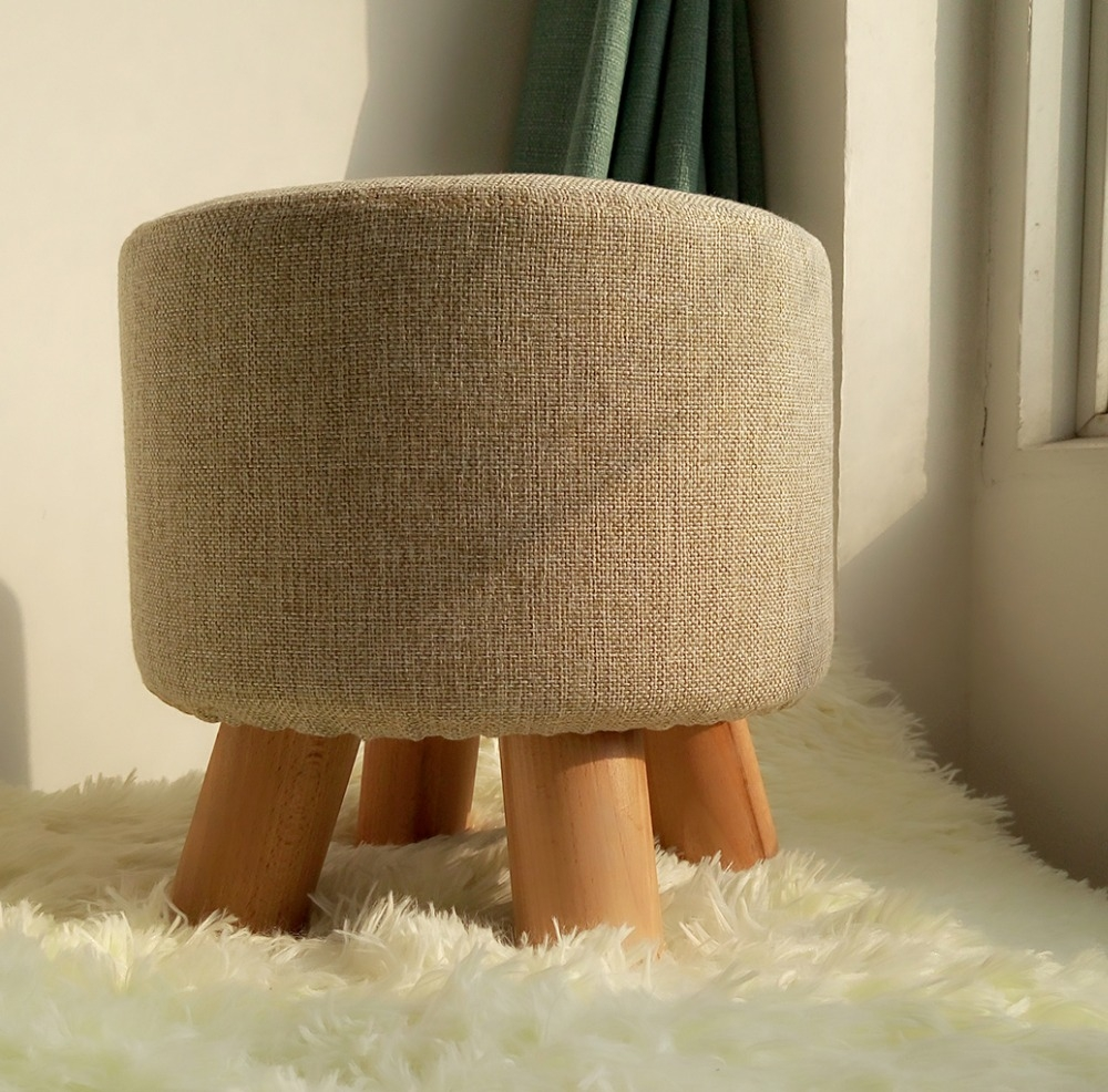 15 Collection Of Fabric Footstools And Pouffes Sofa Ideas