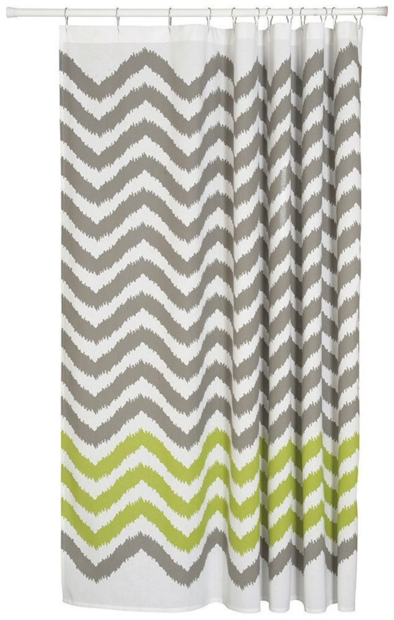 Online Get Cheap Gray White Shower Curtain Aliexpress Within Gray Chevron Shower Curtains (Image 19 of 25)