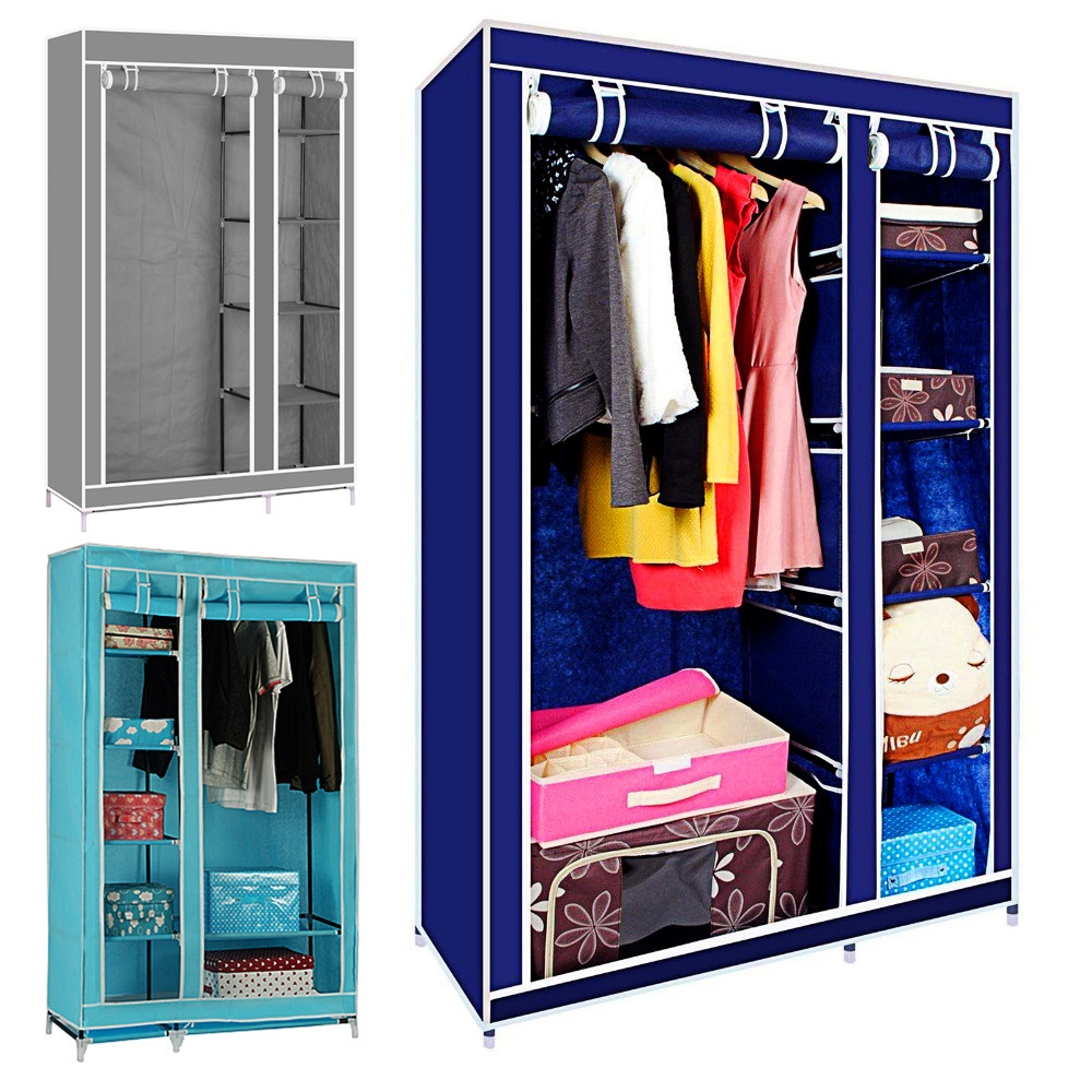 Online Get Cheap Metal Wardrobe Closets Aliexpress Alibaba Intended For Large Cupboard With Shelves (Image 18 of 25)