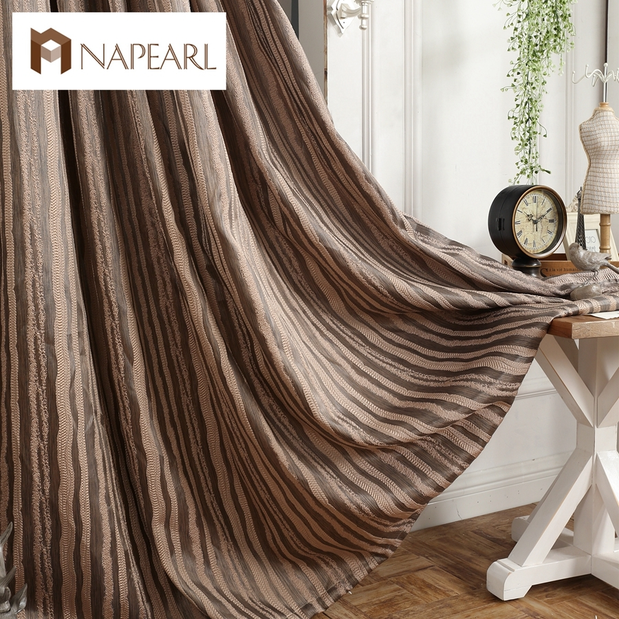 Online Get Cheap Short Brown Curtains Aliexpress Alibaba Group With Short Brown Curtains (Image 19 of 25)