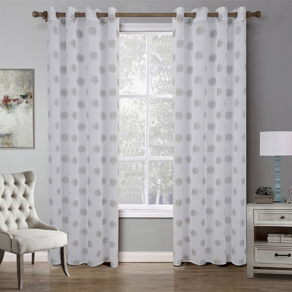 Online Get Cheap Silver Curtain Material Aliexpress Alibaba Pertaining To Very Cheap Curtains (View 22 of 25)
