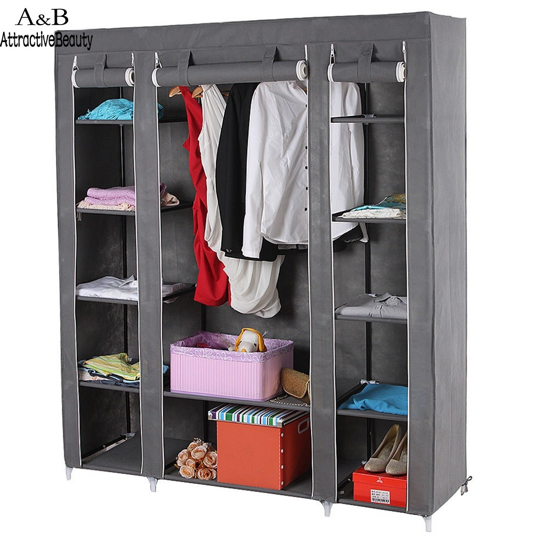 Online Shop Non Woven Folding Jumbo Chest Wardrobe Shelves Hanging Inside Hanging Wardrobe Shelves (Image 15 of 25)