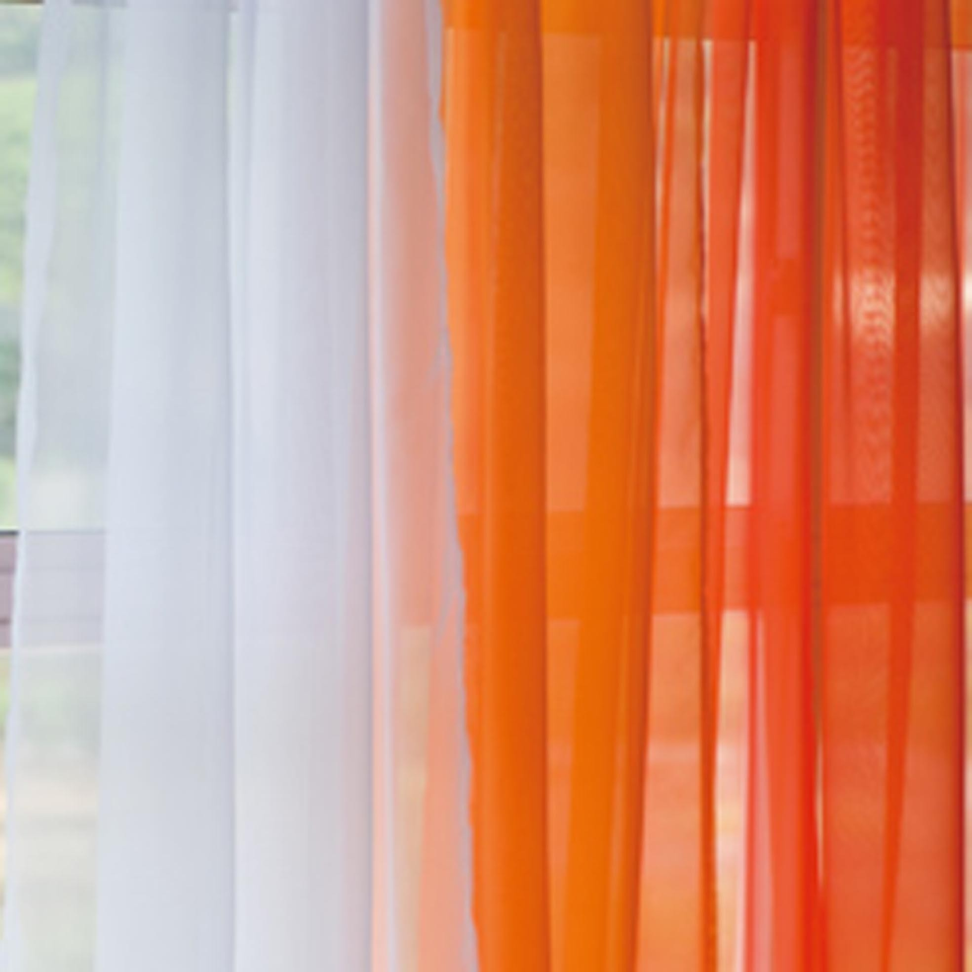 Orange Gradient Panel Set Orange Curtains Curtain Ideas And For Sheer White Curtain Panels (Image 13 of 25)