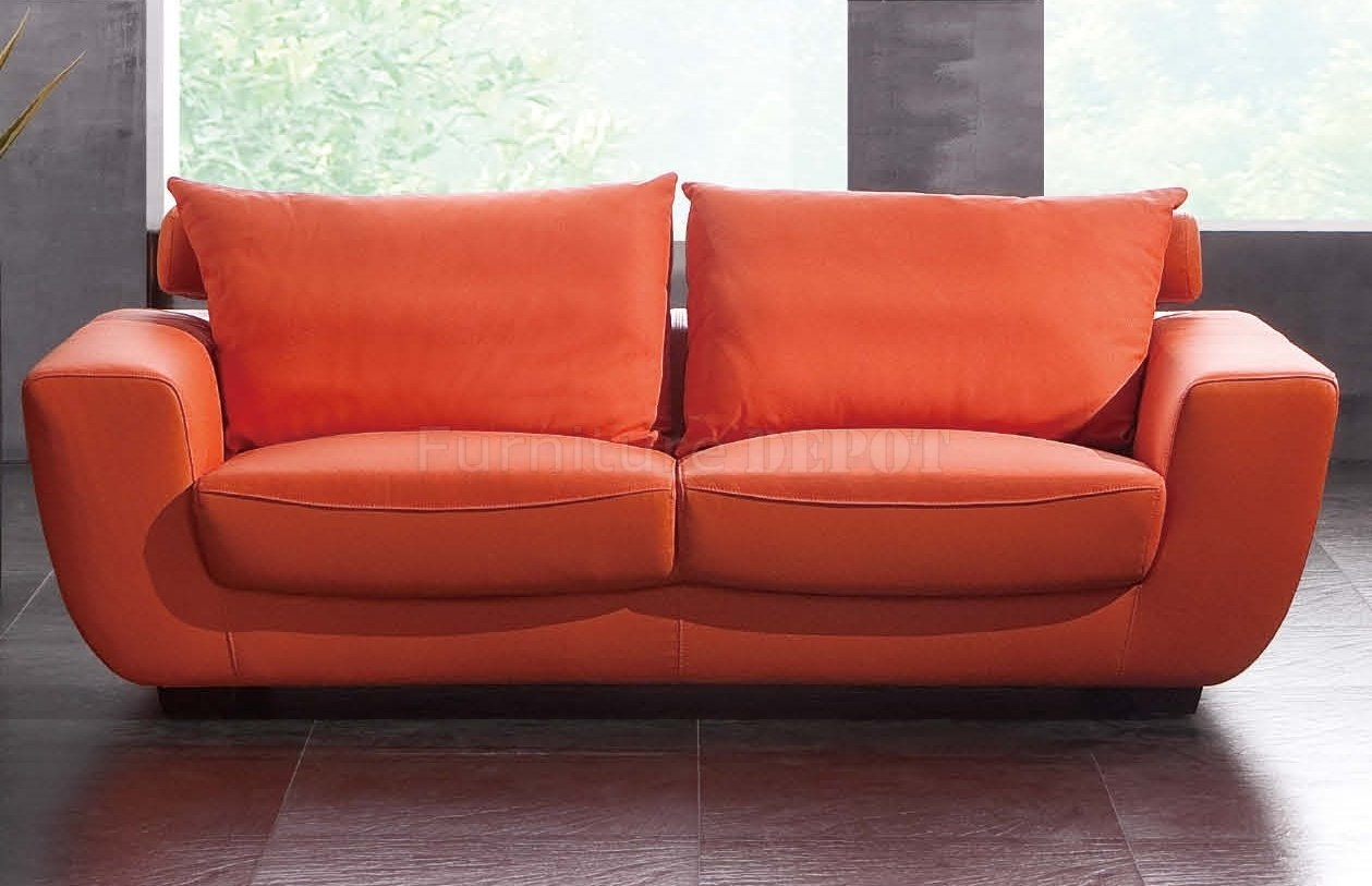 Orange Sofa Chair Thesofa Throughout Orange Sofa Chairs (Image 10 of 15)