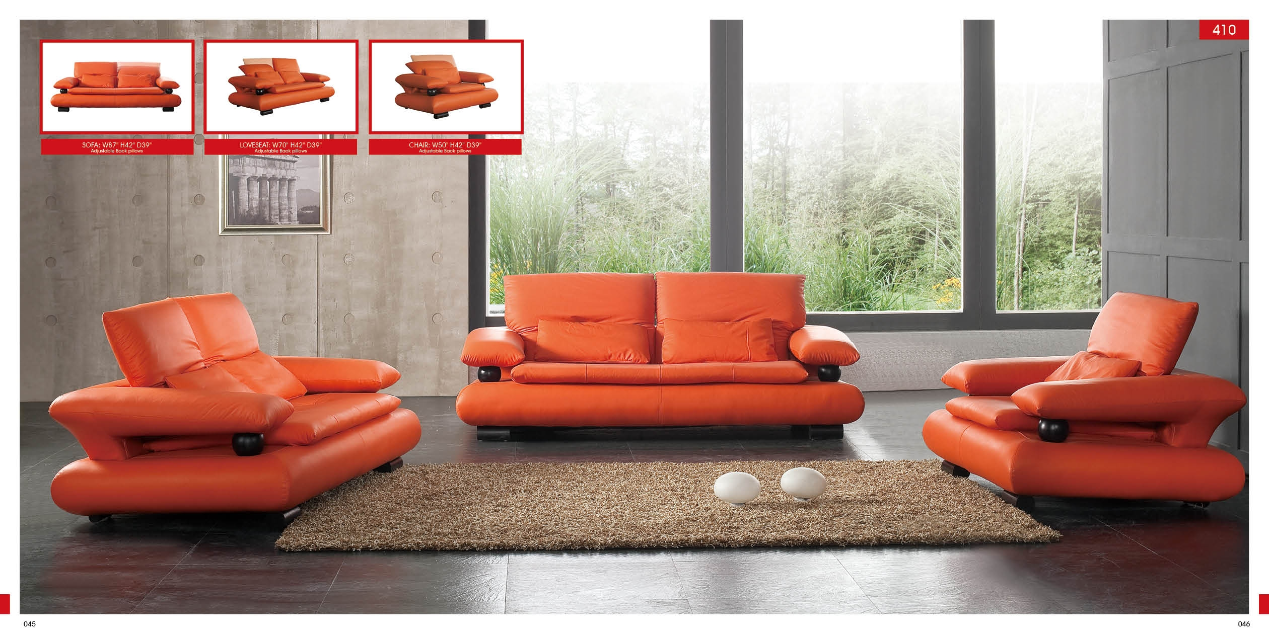 Orange Sofa Design Ideas Orange Living Room Chairs Orange Sofa In Orange Sofa Chairs (Image 11 of 15)