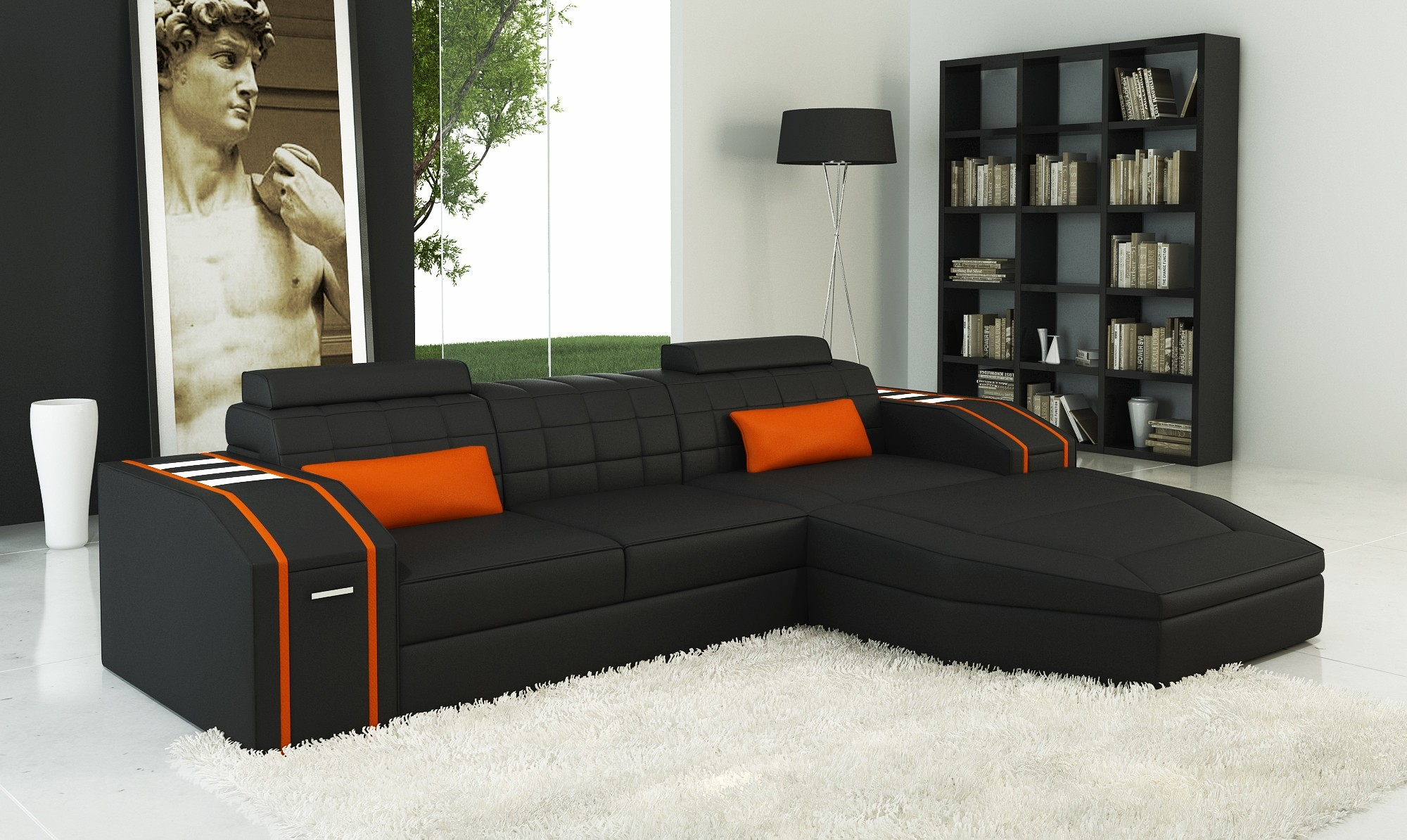 Orange Sofa Design Ideas Orange Living Room Chairs Orange Sofa Regarding Orange Sofa Chairs (Image 12 of 15)