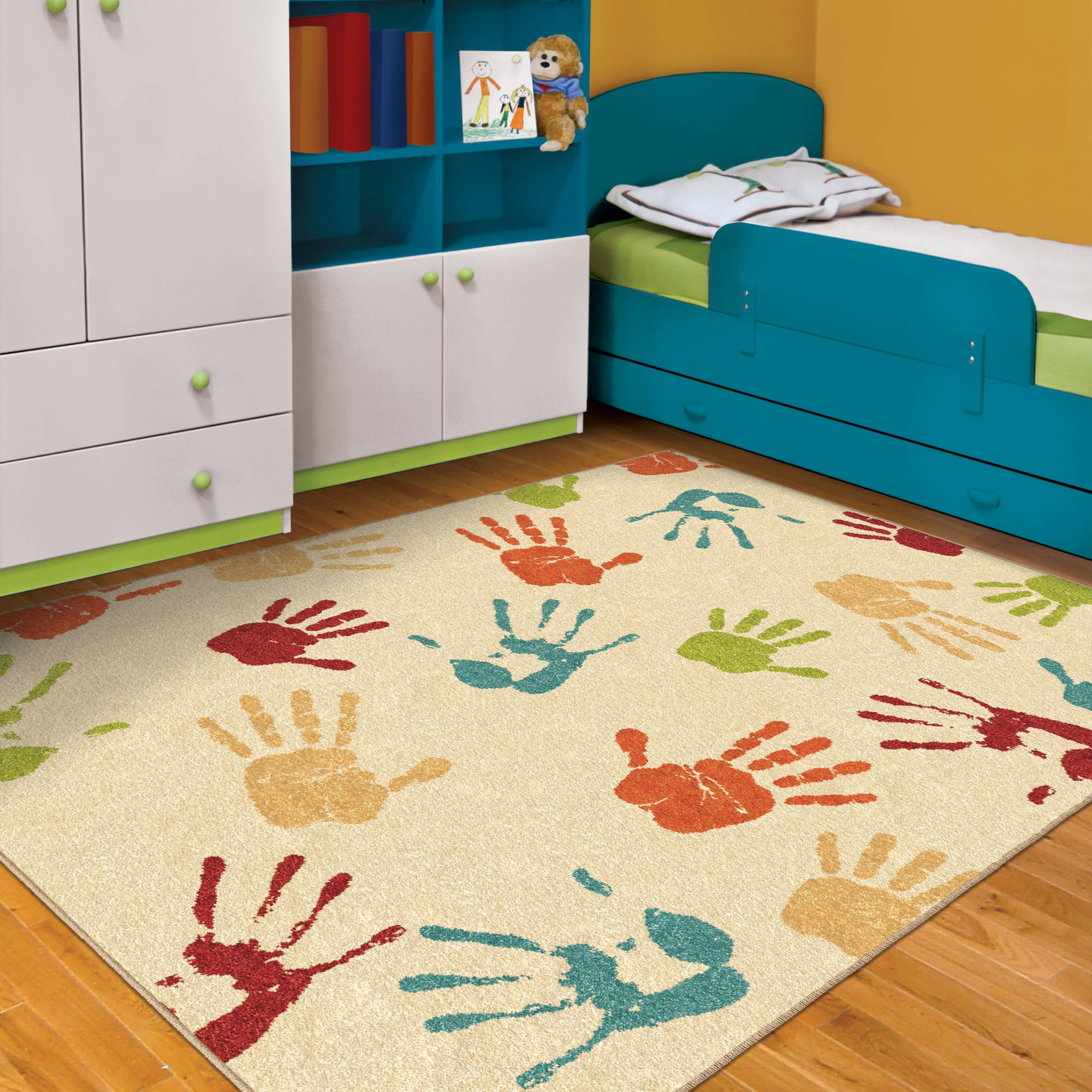 Orian Handprints Fun Kids Area Rug Walmart Regarding Children Rugs (Image 12 of 15)