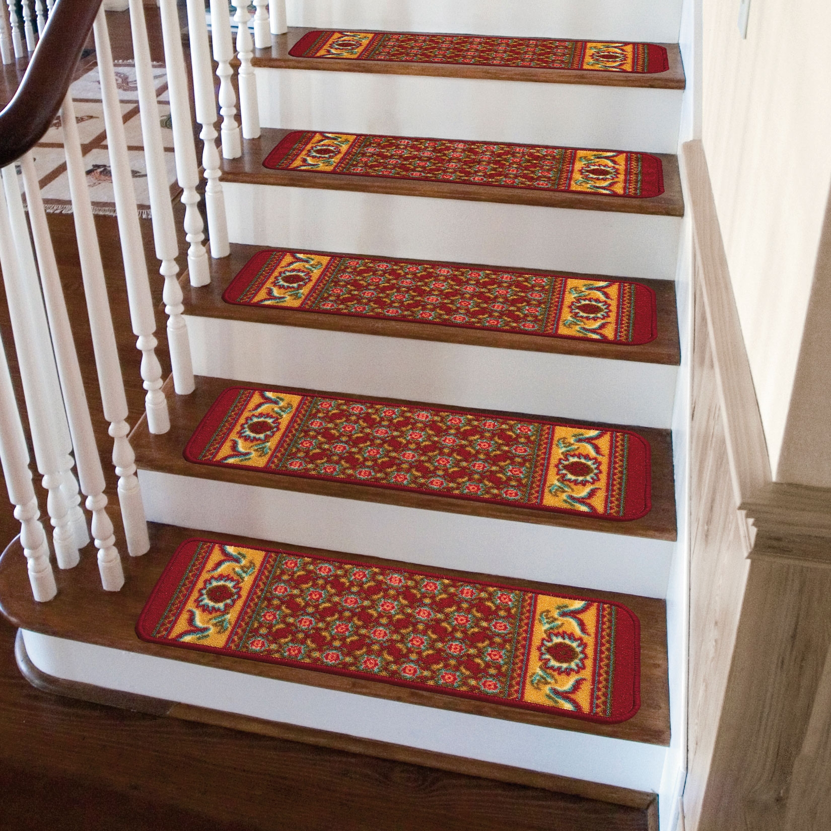 Oriental Rug Stair Treads Theultimatebrylanehome Sweeps With Regard To Oriental Rug Stair Treads (Image 11 of 15)