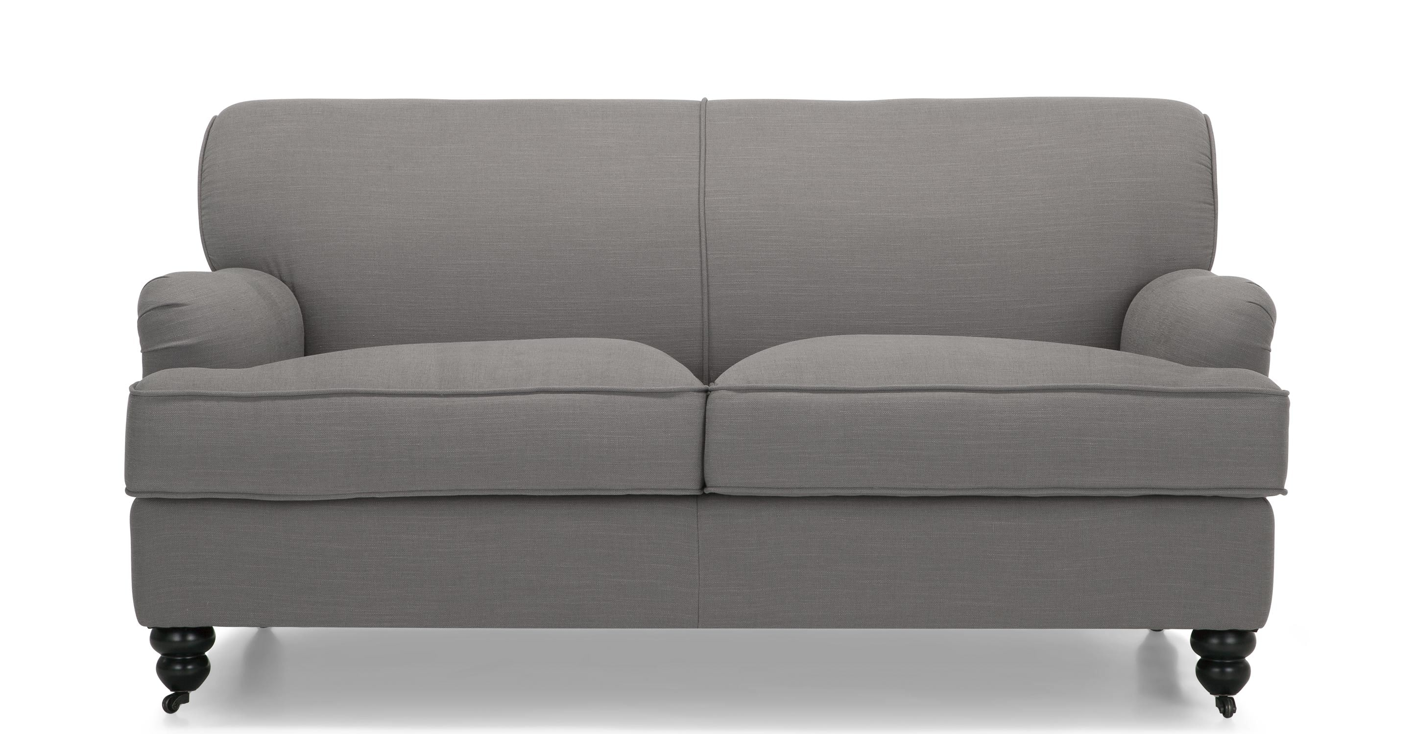 Orson 2 Seater Sofa Graphite Grey Made Intended For 2 Seater Sofas (Image 13 of 15)