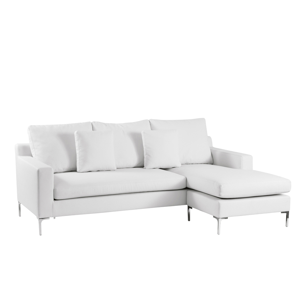 Oslo Reversible Corner Sofa White Dwell Inside White Leather Corner Sofa (Photo 7 of 15)