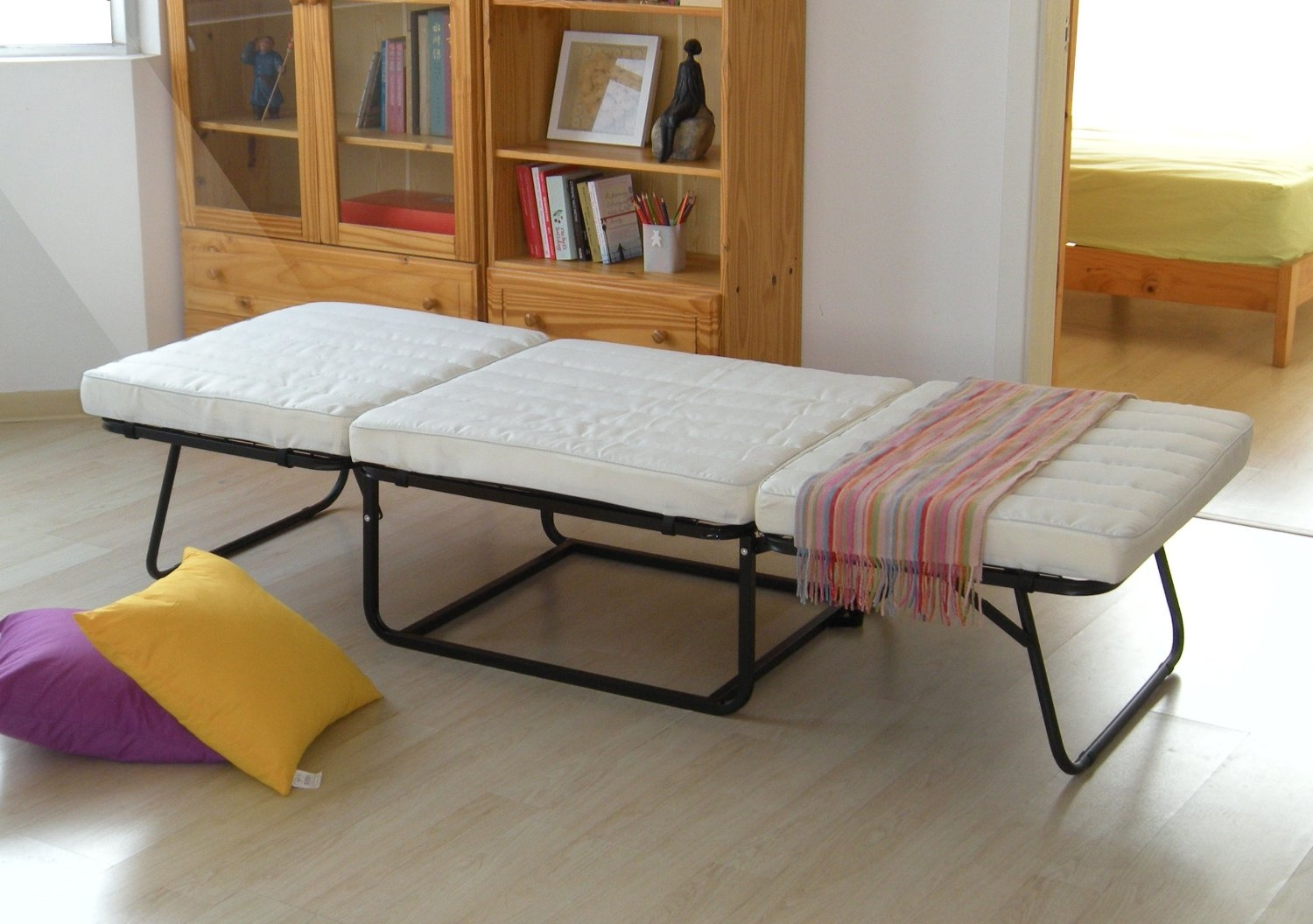 Ottoman Fold Out Bed Editeestrela Design Throughout Footstool Pouffe Sofa Folding Bed (Image 8 of 15)