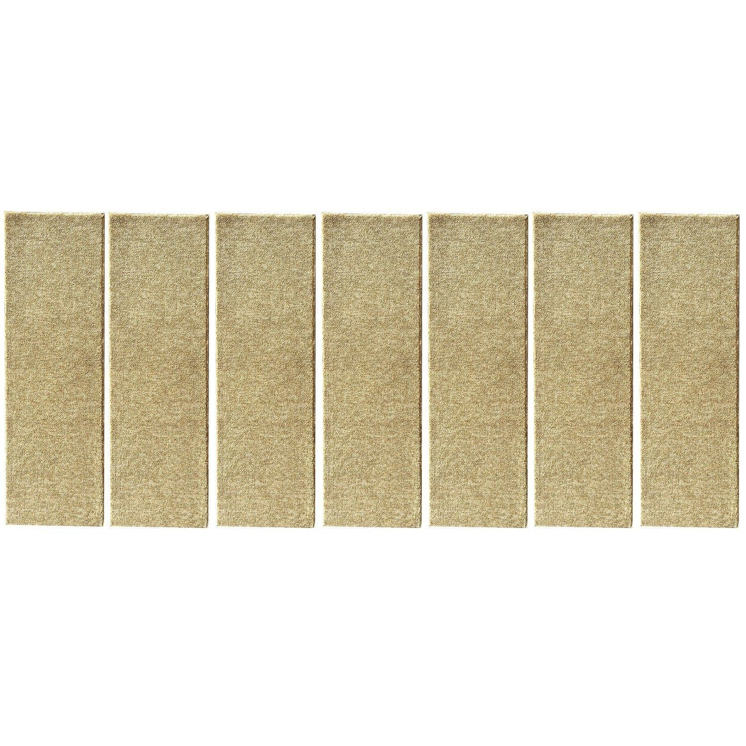 Ottomanson Affordable Set Of 7 Skid Resistant Rubber Backing Non Inside Rubber Backed Stair Tread Rugs (Image 12 of 15)
