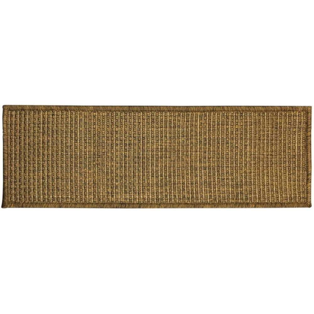 Ottomanson Jardin Collection Solid Design Brown 9 In X 26 In Pertaining To Indoor Outdoor Carpet Stair Treads (View 3 of 15)