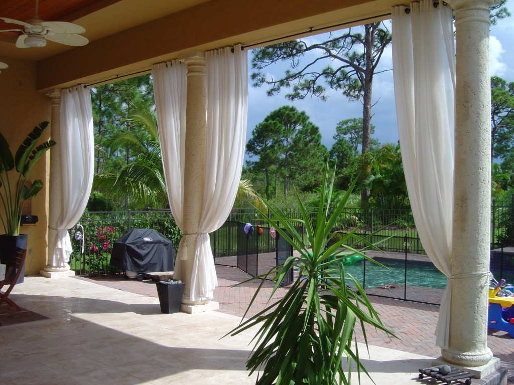 Outdoor Curtain Panel For Your House Front Yard Landscaping Ideas Inside Extra Long Outdoor Curtain Rods (Image 17 of 25)