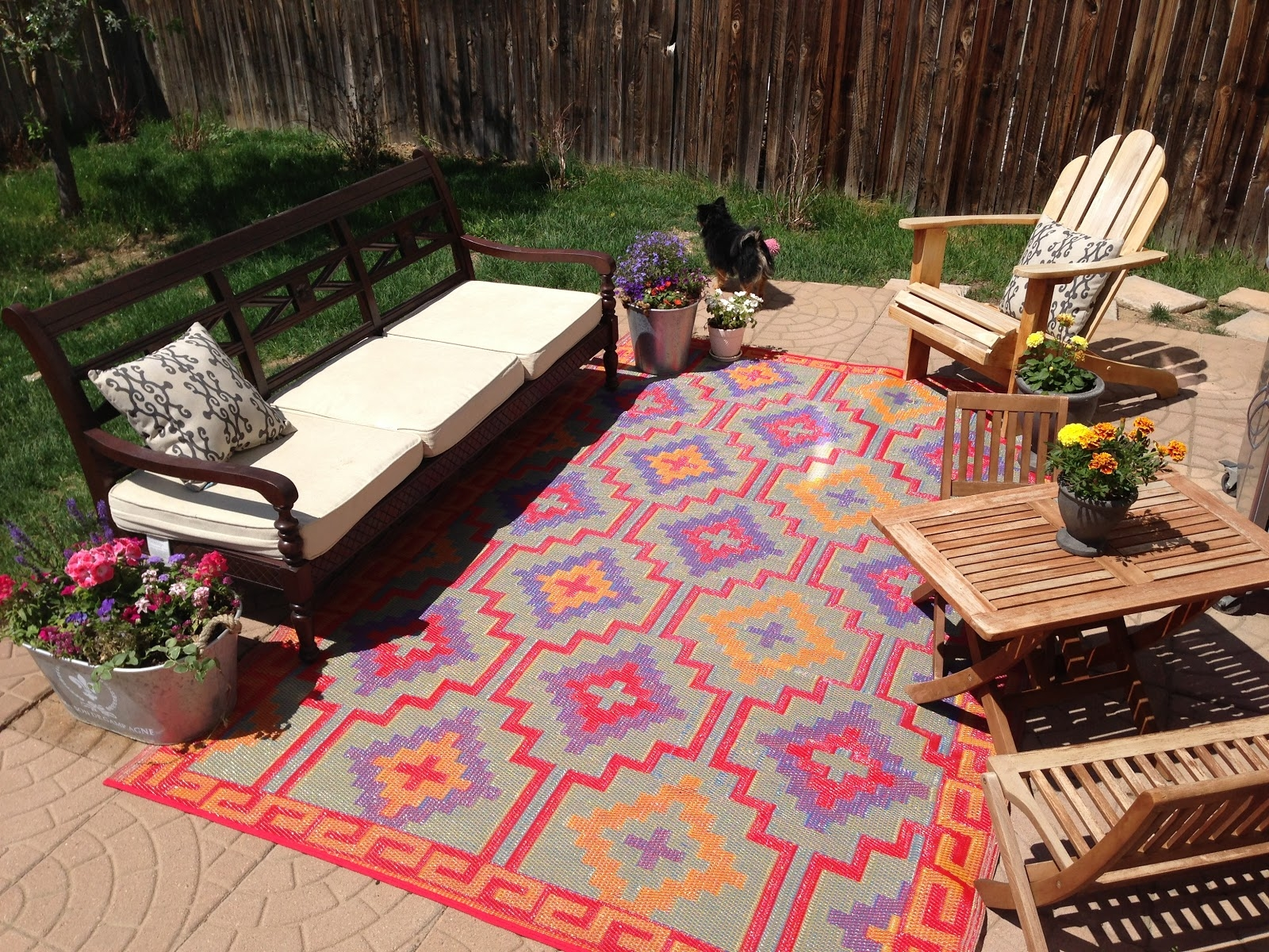 Outdoor Patio Carpet Rug Orange Glf Home Pros With Outside Carpets (Image 8 of 15)