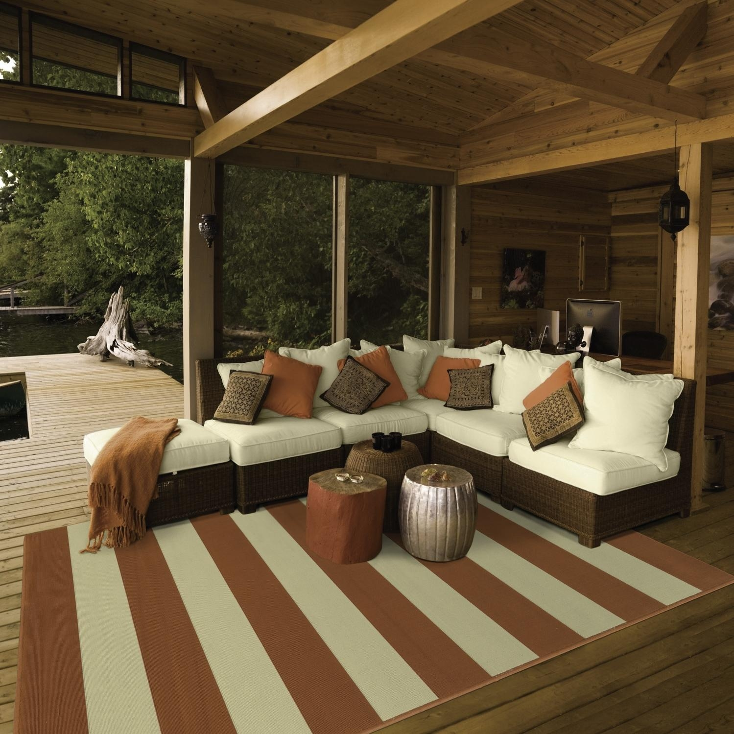 Outdoor Rugs For Decks Show Home Design Inside Outside Rugs For Decks (Image 8 of 15)