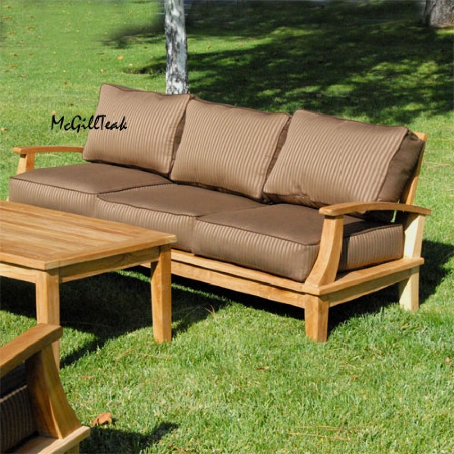 Outdoor Sofa Teak Nz Tags 41 Amazing Teak Outdoor Sofa Photos Regarding Outdoor Sofas And Chairs (Image 14 of 15)