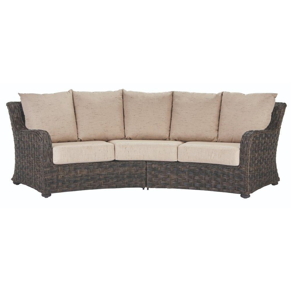 Outdoor Sofas Outdoor Lounge Furniture The Home Depot With Outdoor Sofa Chairs (Image 10 of 15)