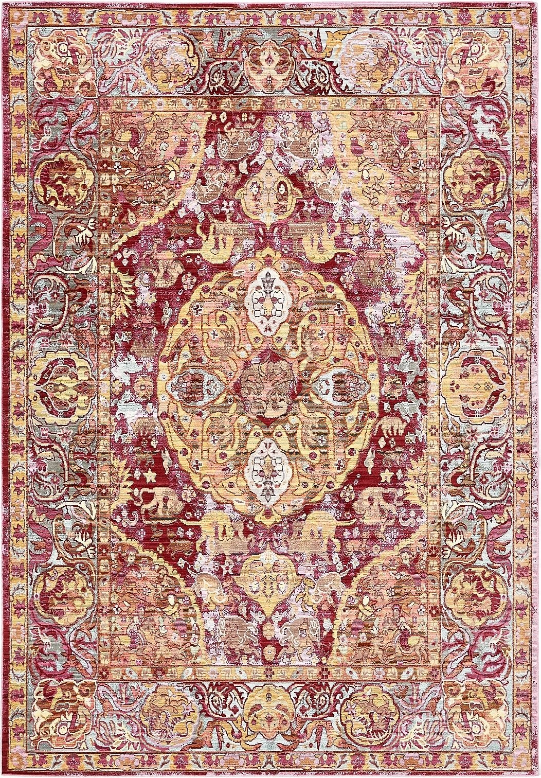 Over Dyed Traditional Carpets Vintage Rug Medallion Style Floor With Traditional Carpets (Image 3 of 15)