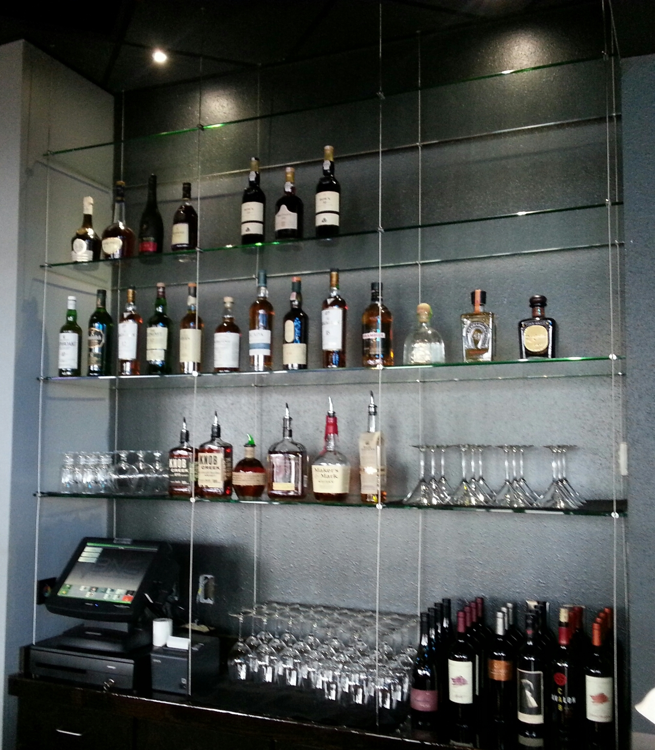 P2s Glass Department Cable Suspension 38 Glass Shelving Max In Cable Suspended Glass Shelves (Image 4 of 15)