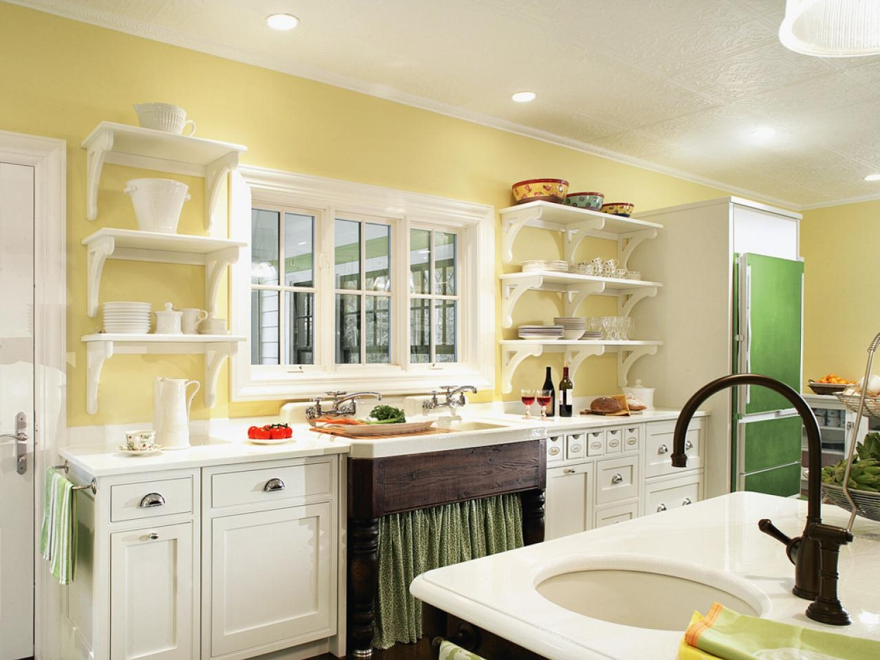 Painted Kitchen Shelves Pictures Ideas Tips From Hgtv Hgtv With Regard To Kitchen Shelves (Image 12 of 15)