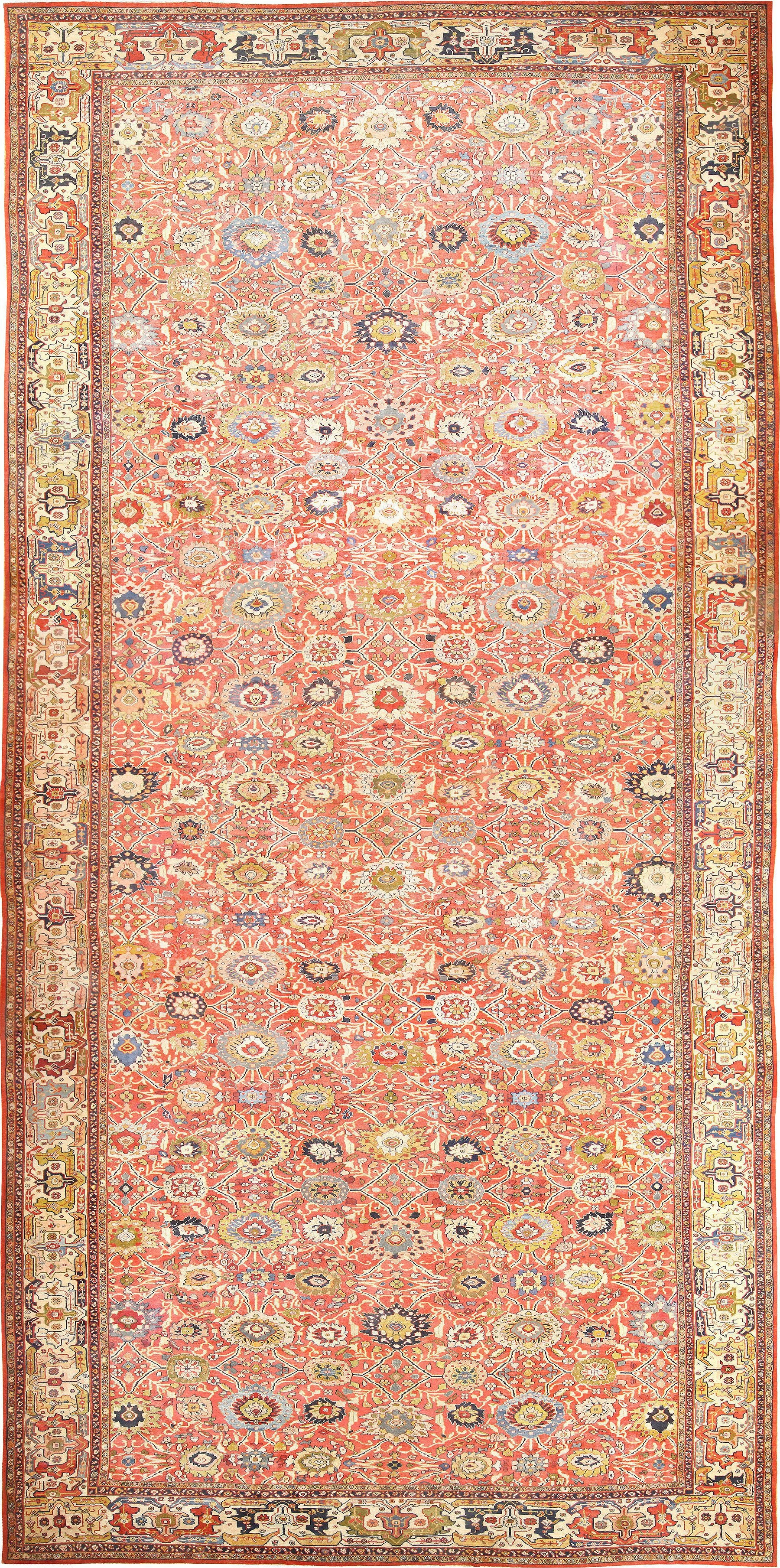 Palatial Oversized Antique Persian Sultanabad Rug 47700 Nazmiyal In Persian Rugs (Image 8 of 15)