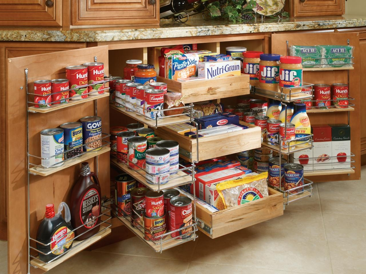 Pantry Cabinets And Cupboards Organization Ideas And Options Hgtv With Storage Racks For Kitchen Cupboards (View 22 of 25)