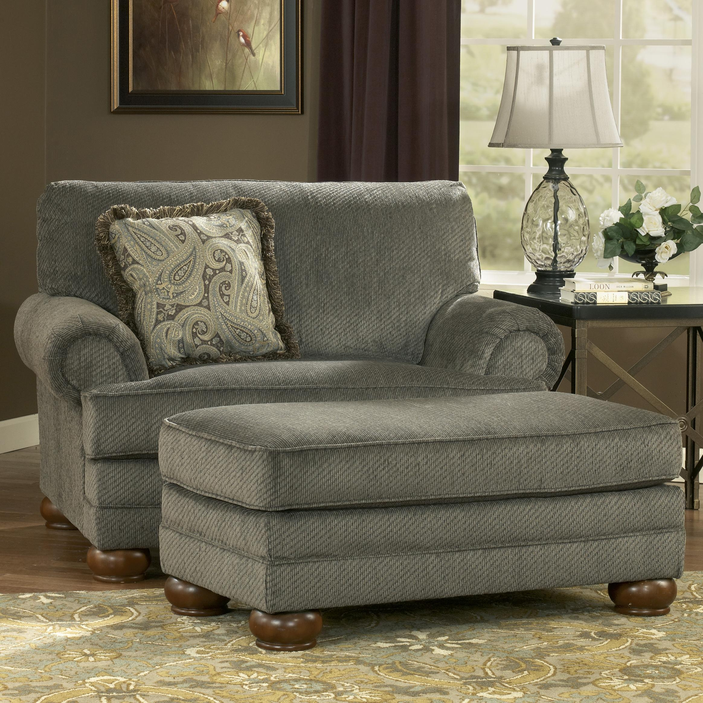 Parcal Estates Basil Chair And A Half And Ottoman Signature With Regard To Sofa Chair And Ottoman (Image 11 of 15)
